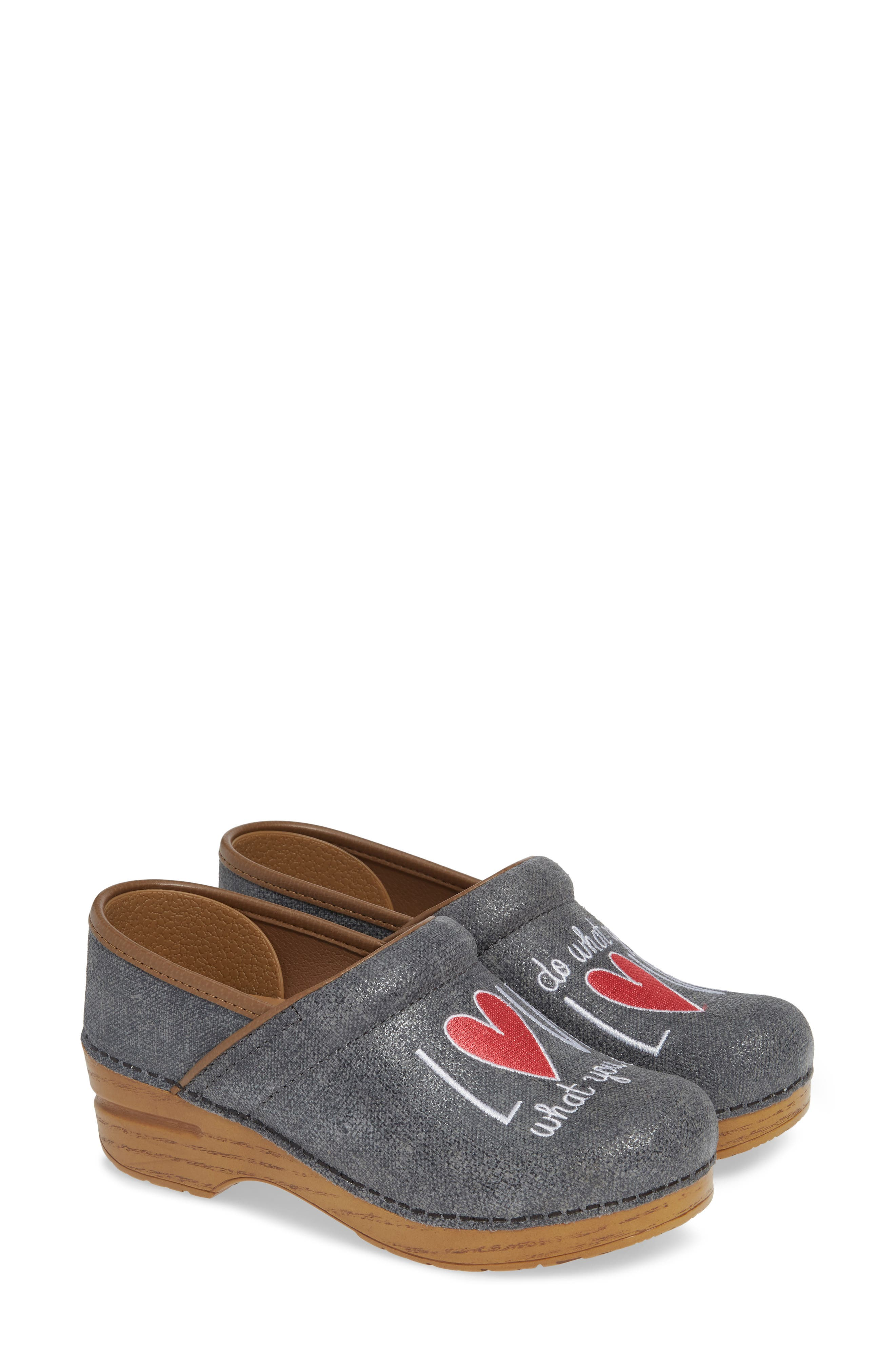 Twin Pro Embroidered Clog,                         Main,                         color, GREY