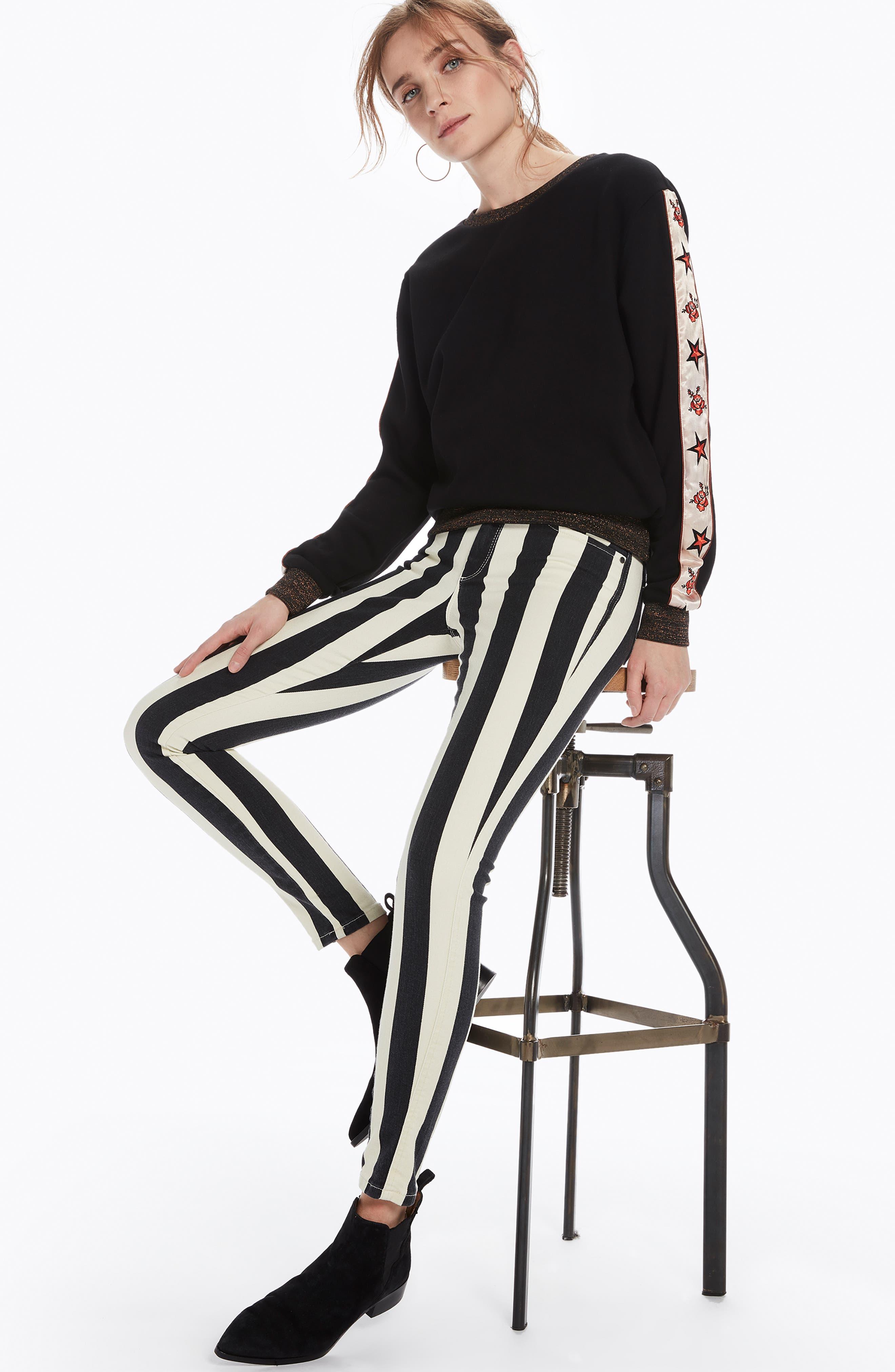 La Bohemienne Skinny Fit Pants,                             Alternate thumbnail 6, color,                             400
