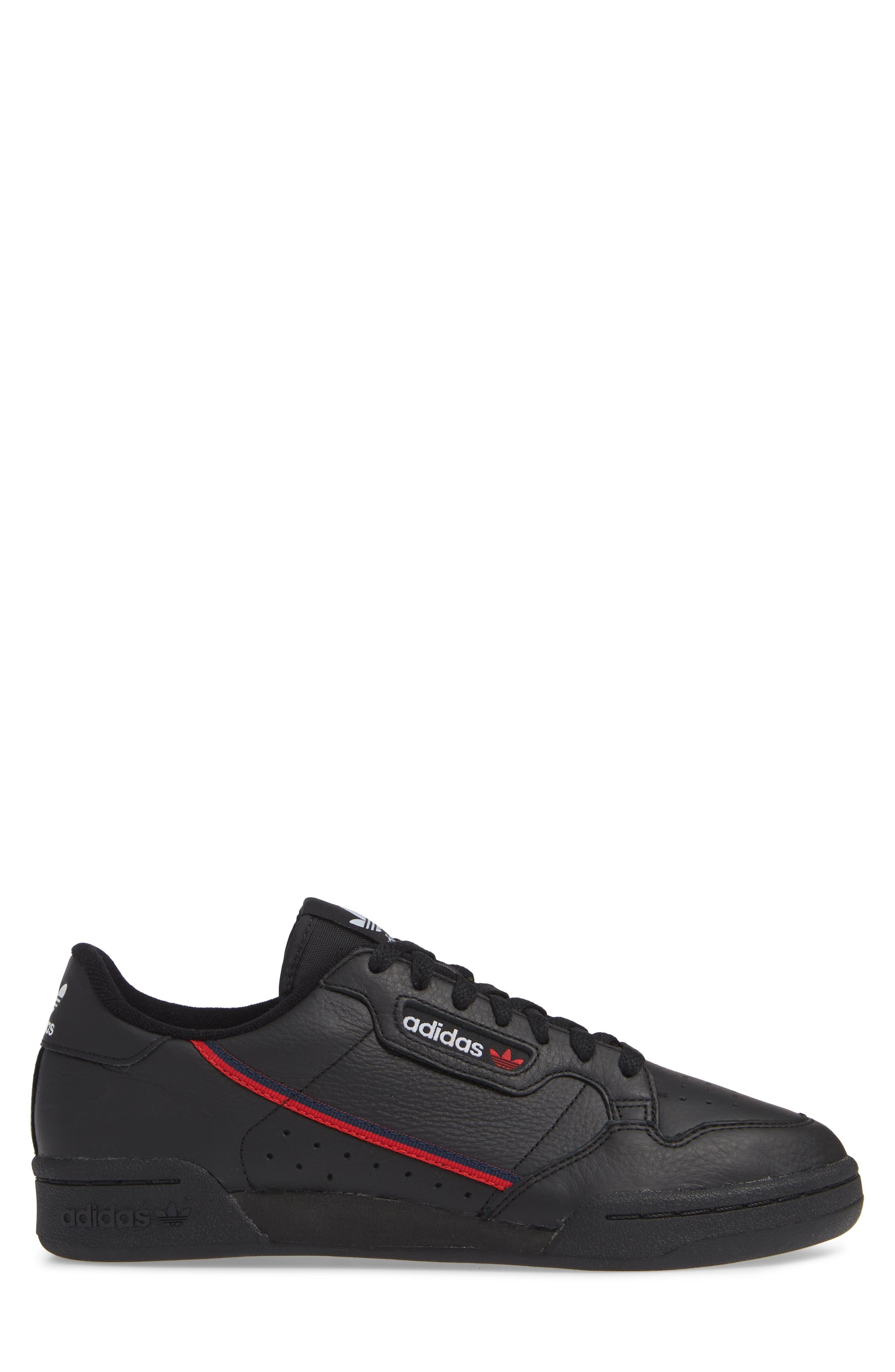 Continental 80 Sneaker,                             Alternate thumbnail 3, color,                             BLACK/ SCARLET/ NAVY