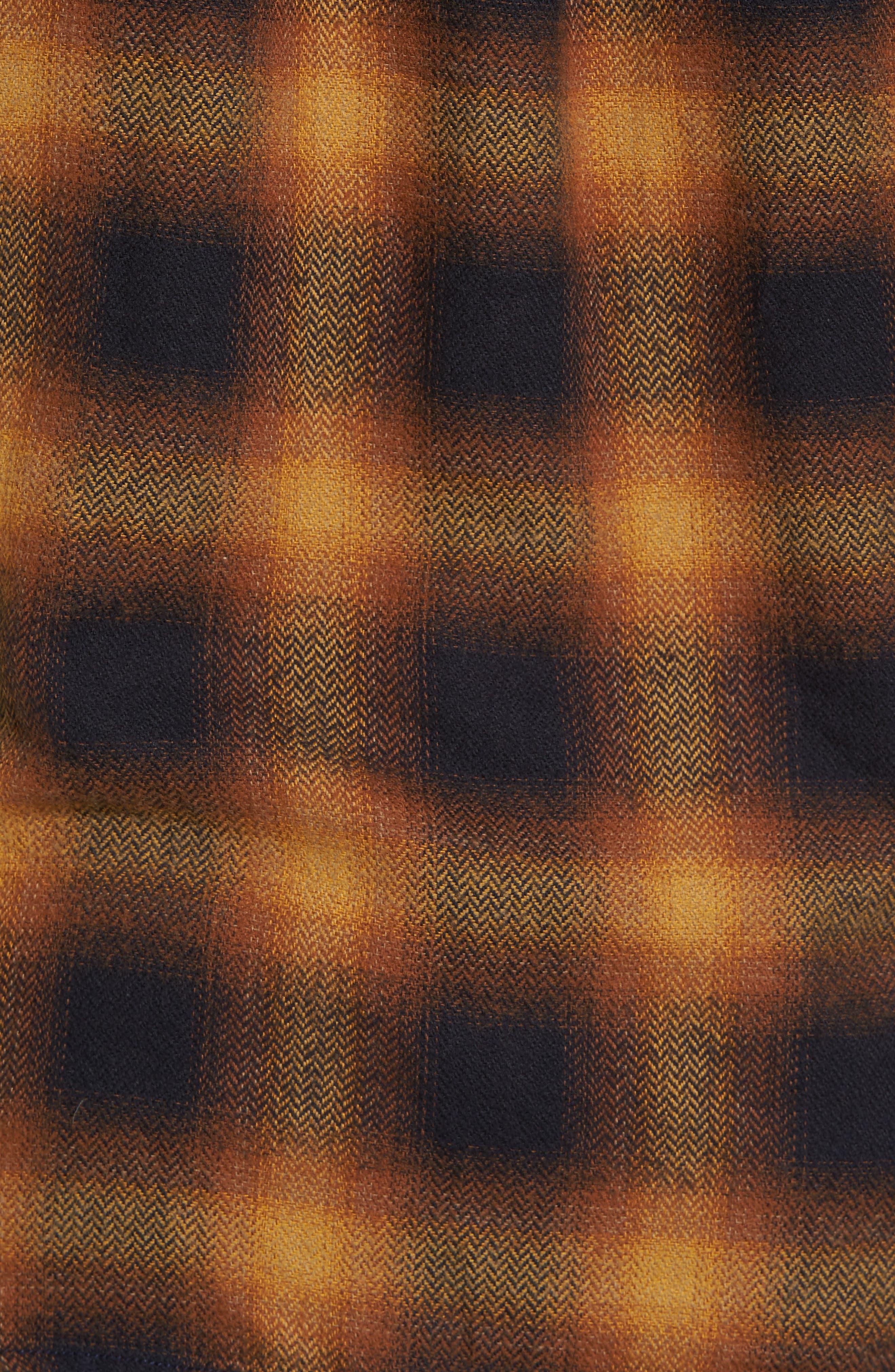 Truman Check Herringbone Shirt,                             Alternate thumbnail 5, color,