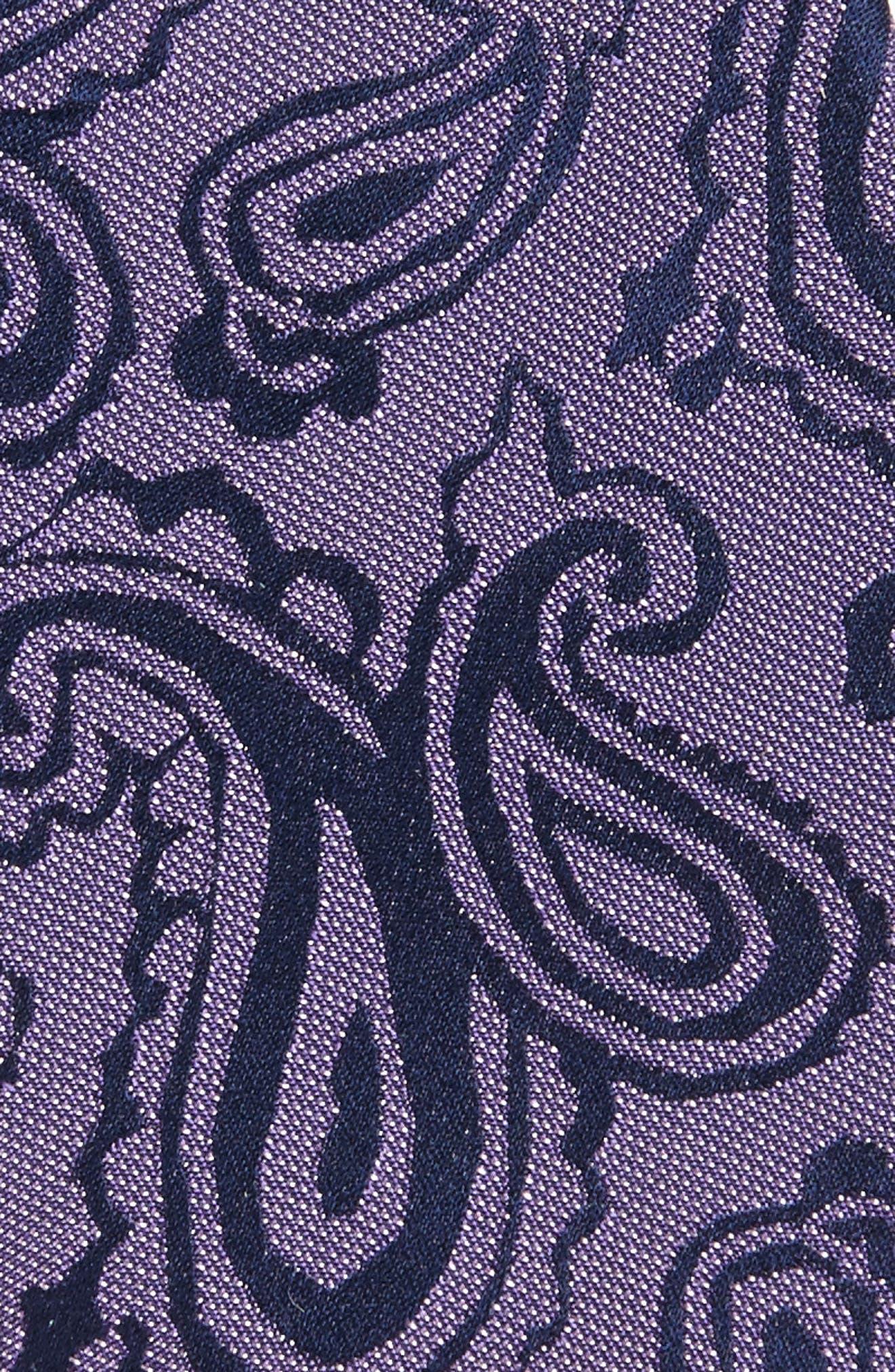 Paisley Silk Skinny Tie,                             Alternate thumbnail 9, color,