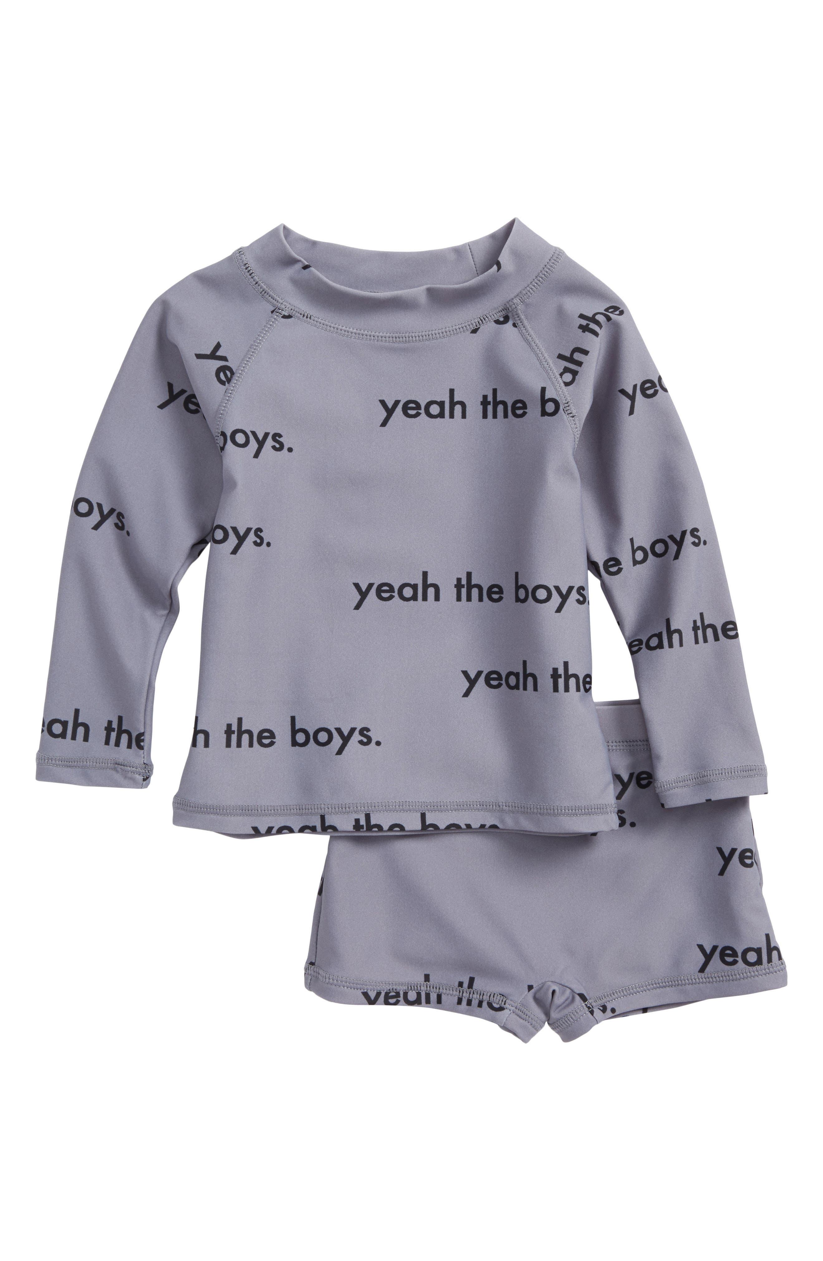 Yeah the Boys Two-Piece Rashguard Swimsuit,                         Main,                         color, 035