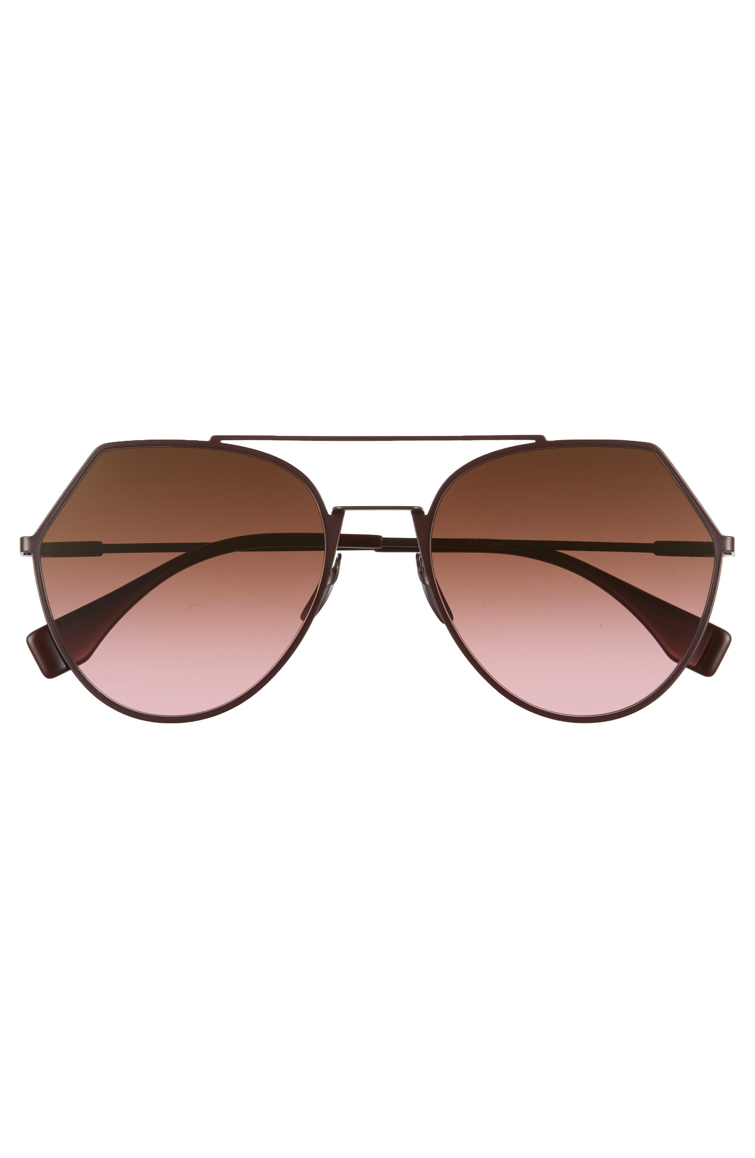 Eyeline 55mm Sunglasses,                             Alternate thumbnail 3, color,                             PLUM
