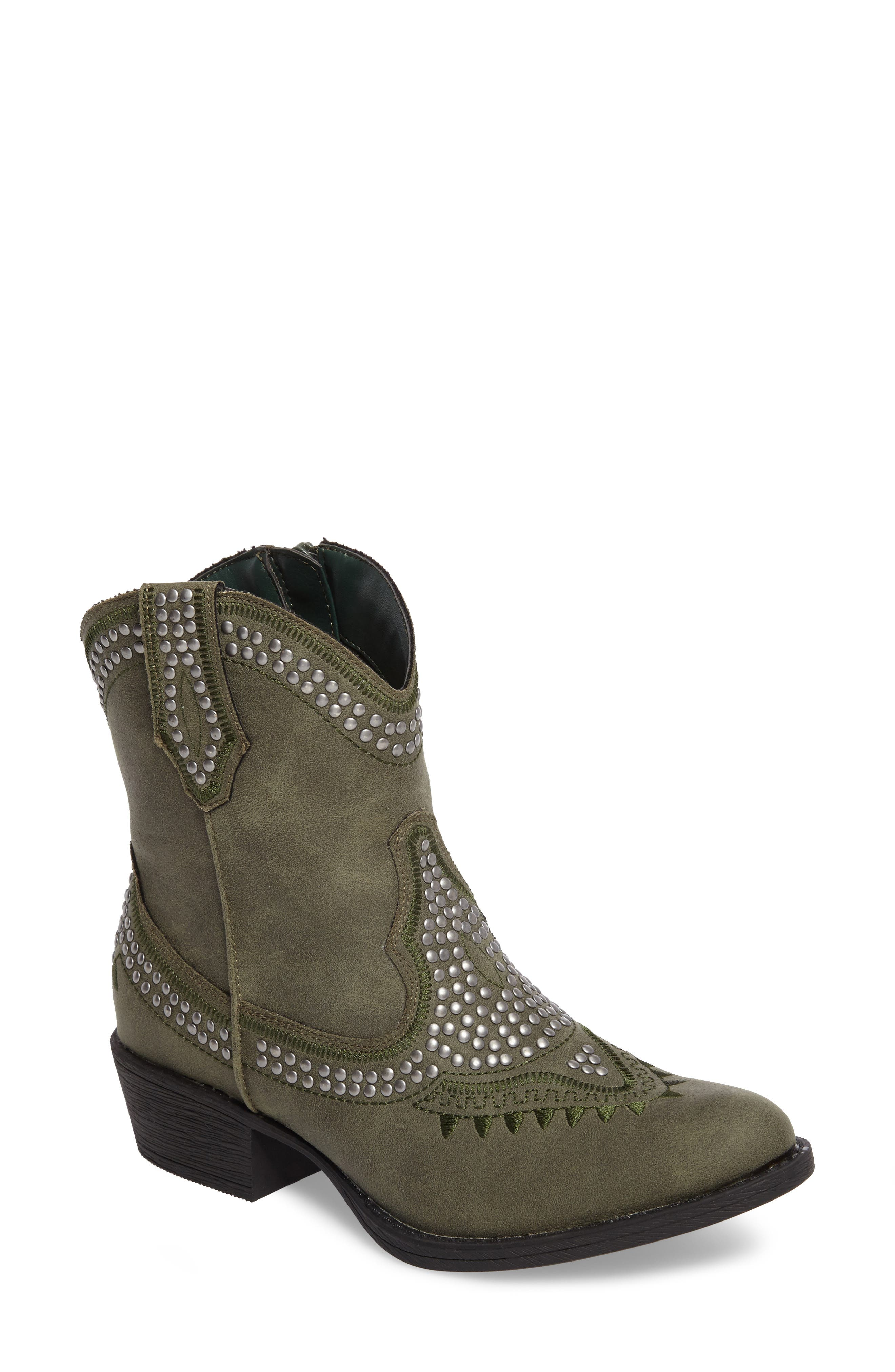 Amour Embellished Western Bootie,                             Main thumbnail 3, color,