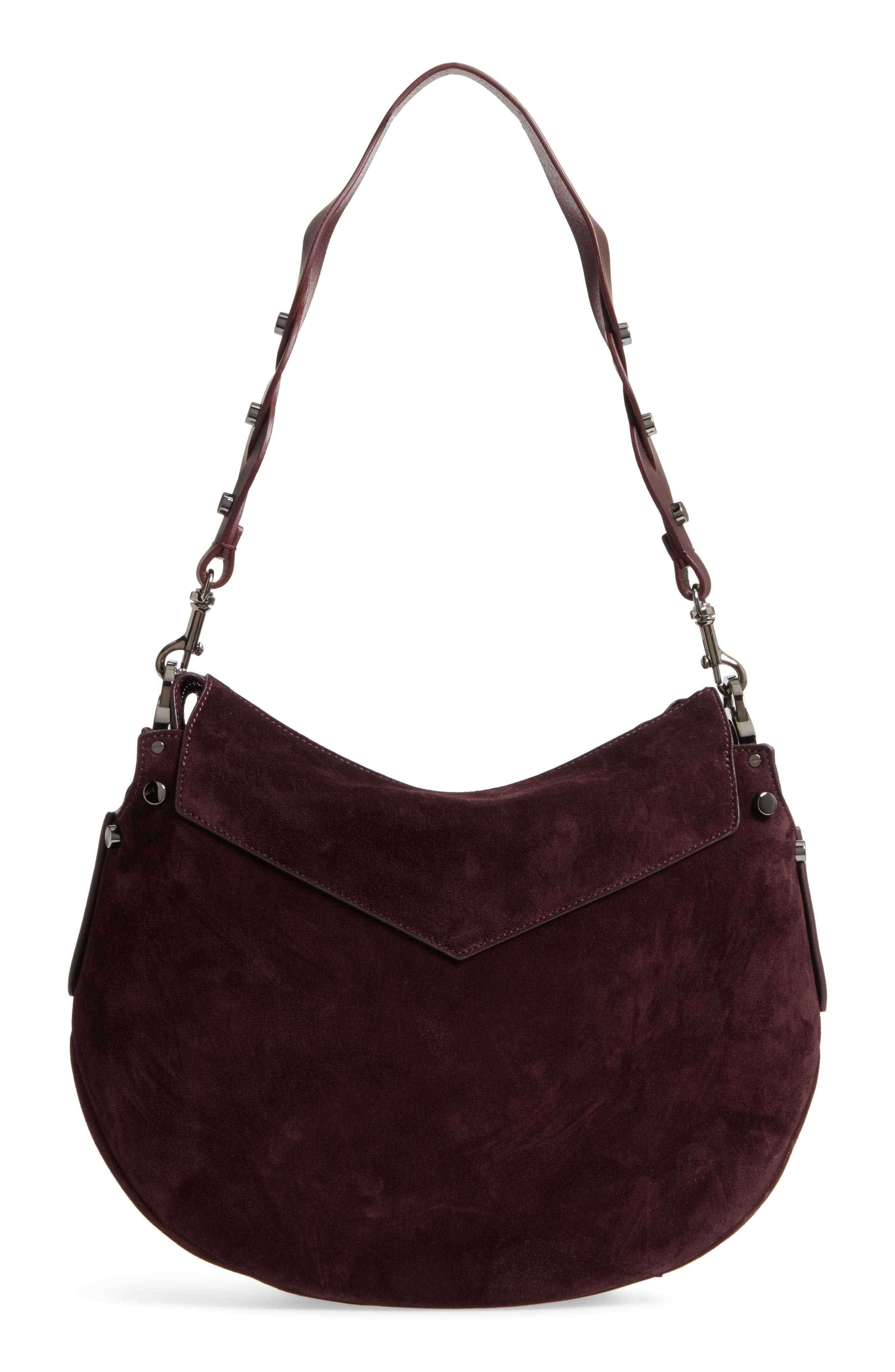 Artie Suede Hobo Bag,                             Alternate thumbnail 11, color,