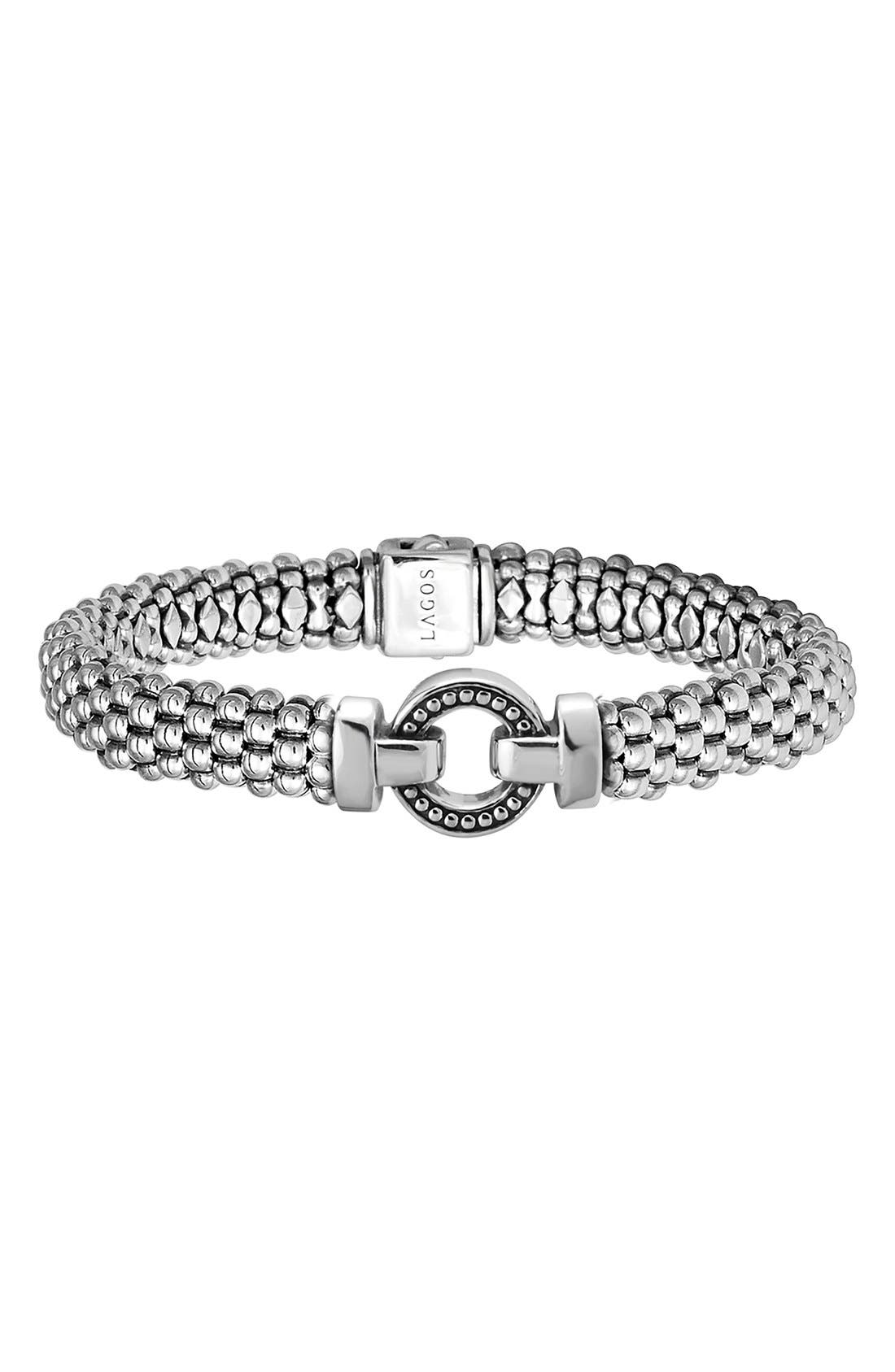 'Enso' Caviar<sup>™</sup> Rope Bracelet,                         Main,                         color, SILVER