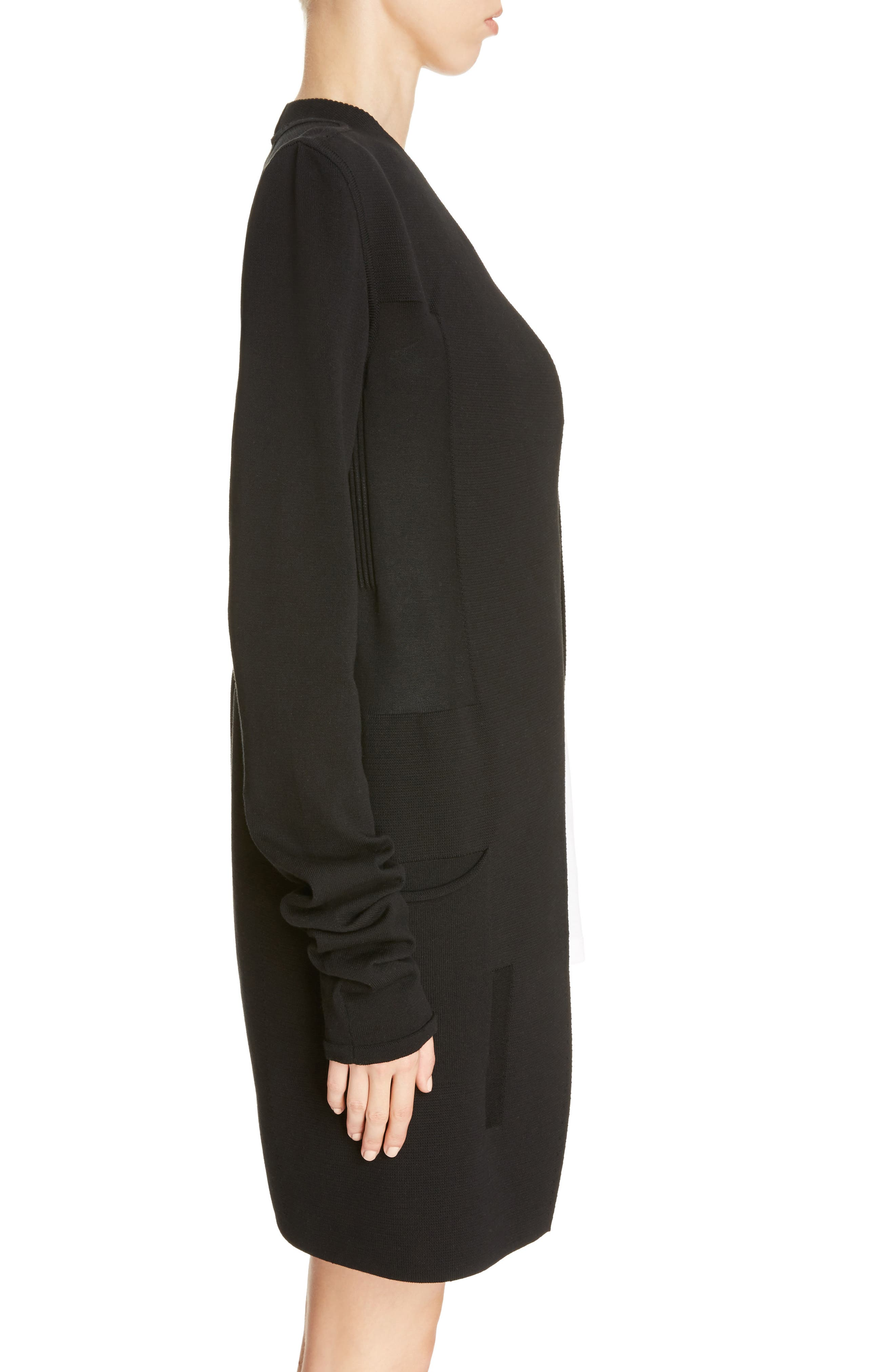 Structured Longline Cardigan,                             Alternate thumbnail 3, color,                             009