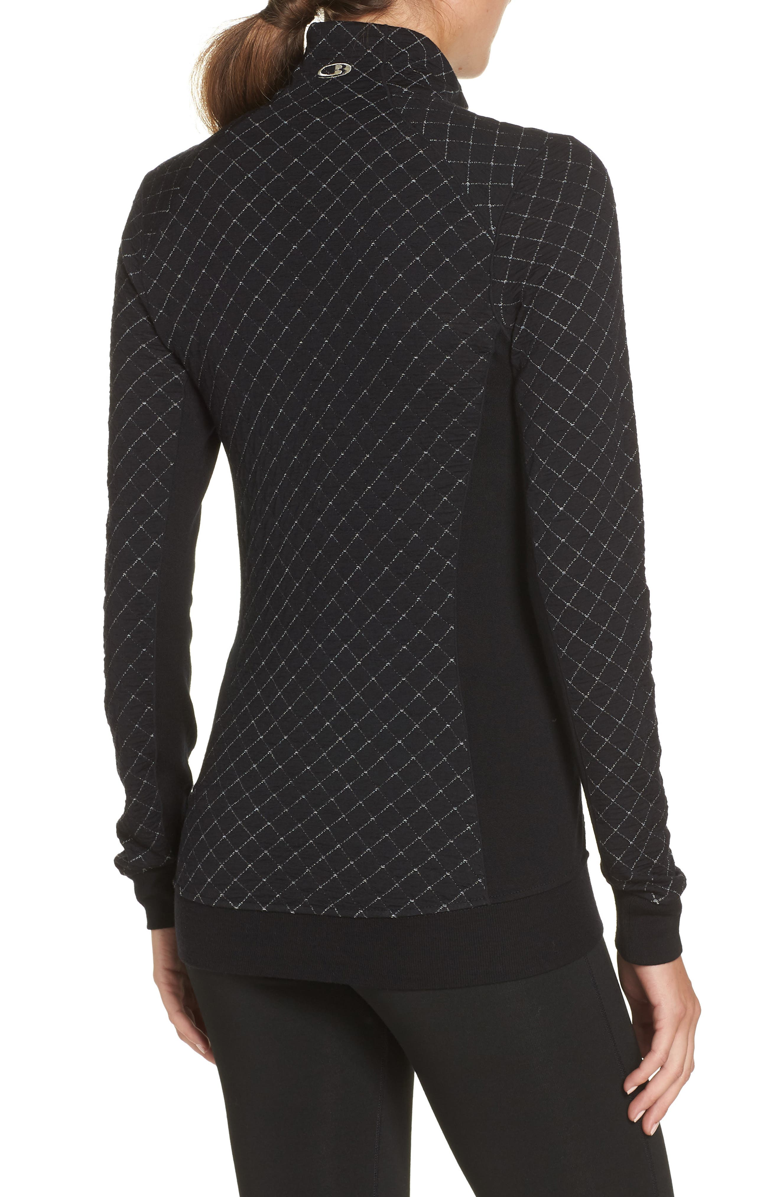 Affinity Thermo Long Sleeve Half Zip Pullover,                             Alternate thumbnail 2, color,                             BLACK