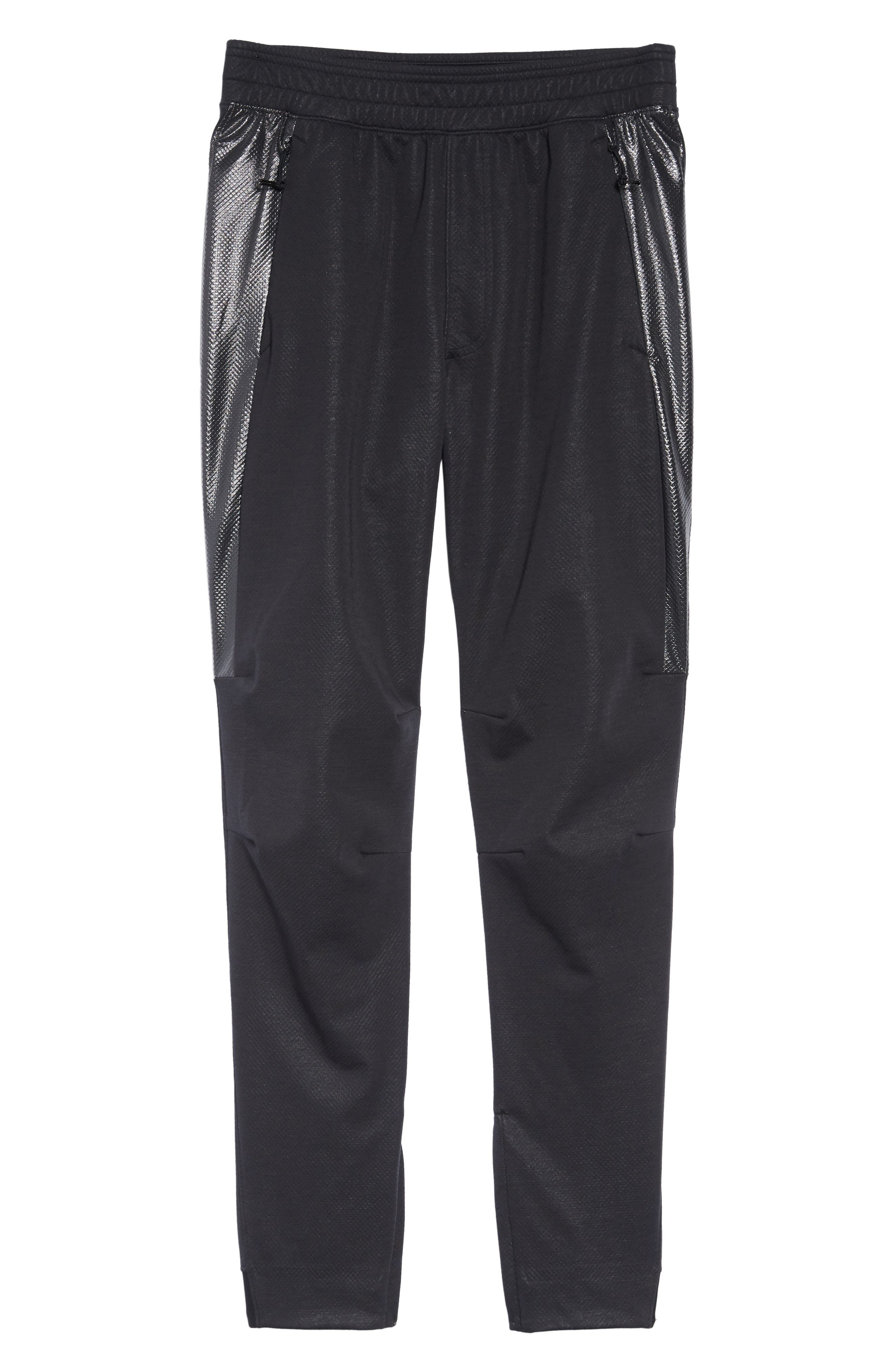 Unstoppable Swacket Training Pants,                             Alternate thumbnail 6, color,                             BLACK FULL HEATHER/ BLACK