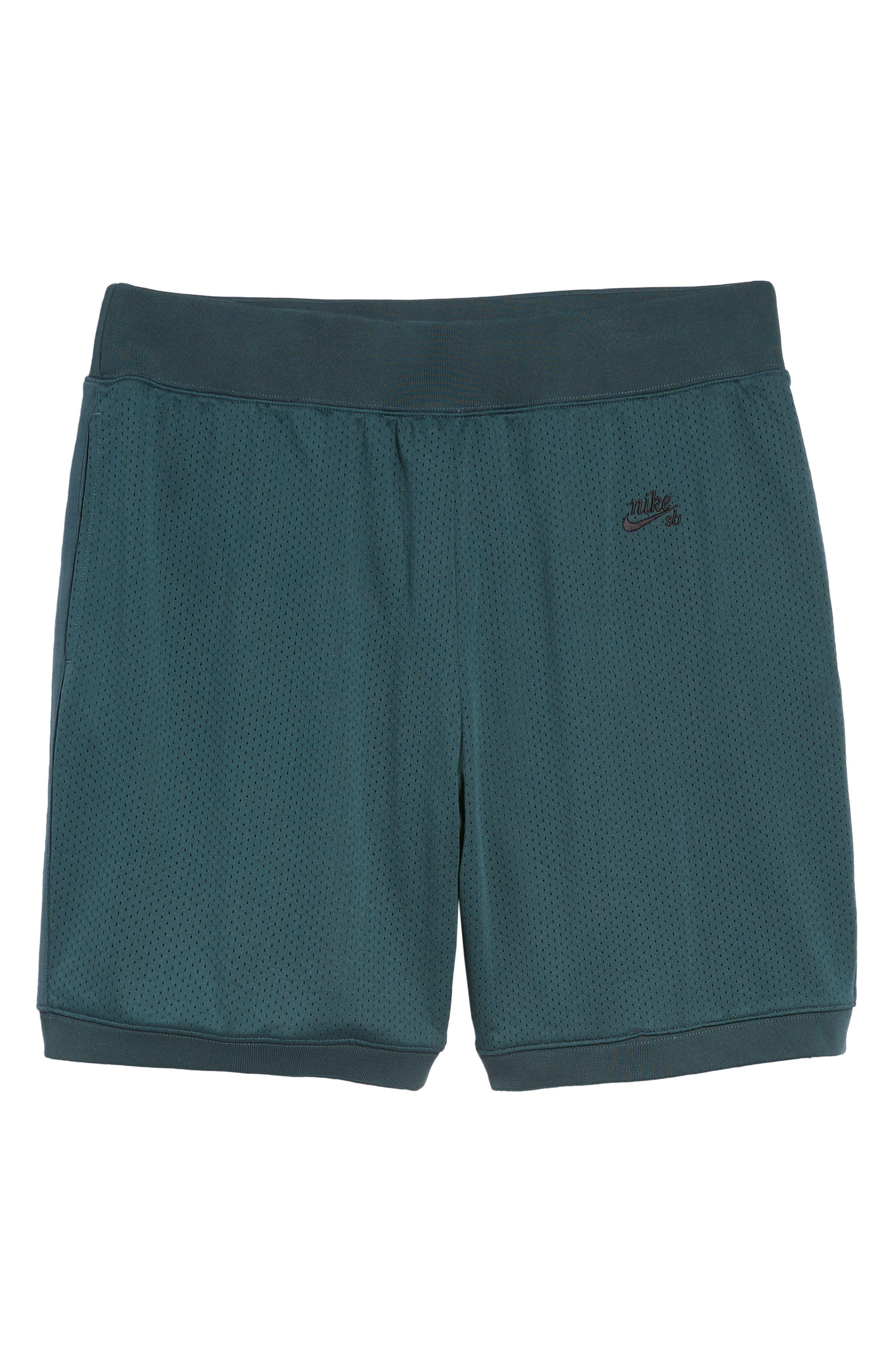 SB Dry Heritage Court Shorts,                             Alternate thumbnail 6, color,                             DEEP JUNGLE/ BLACK