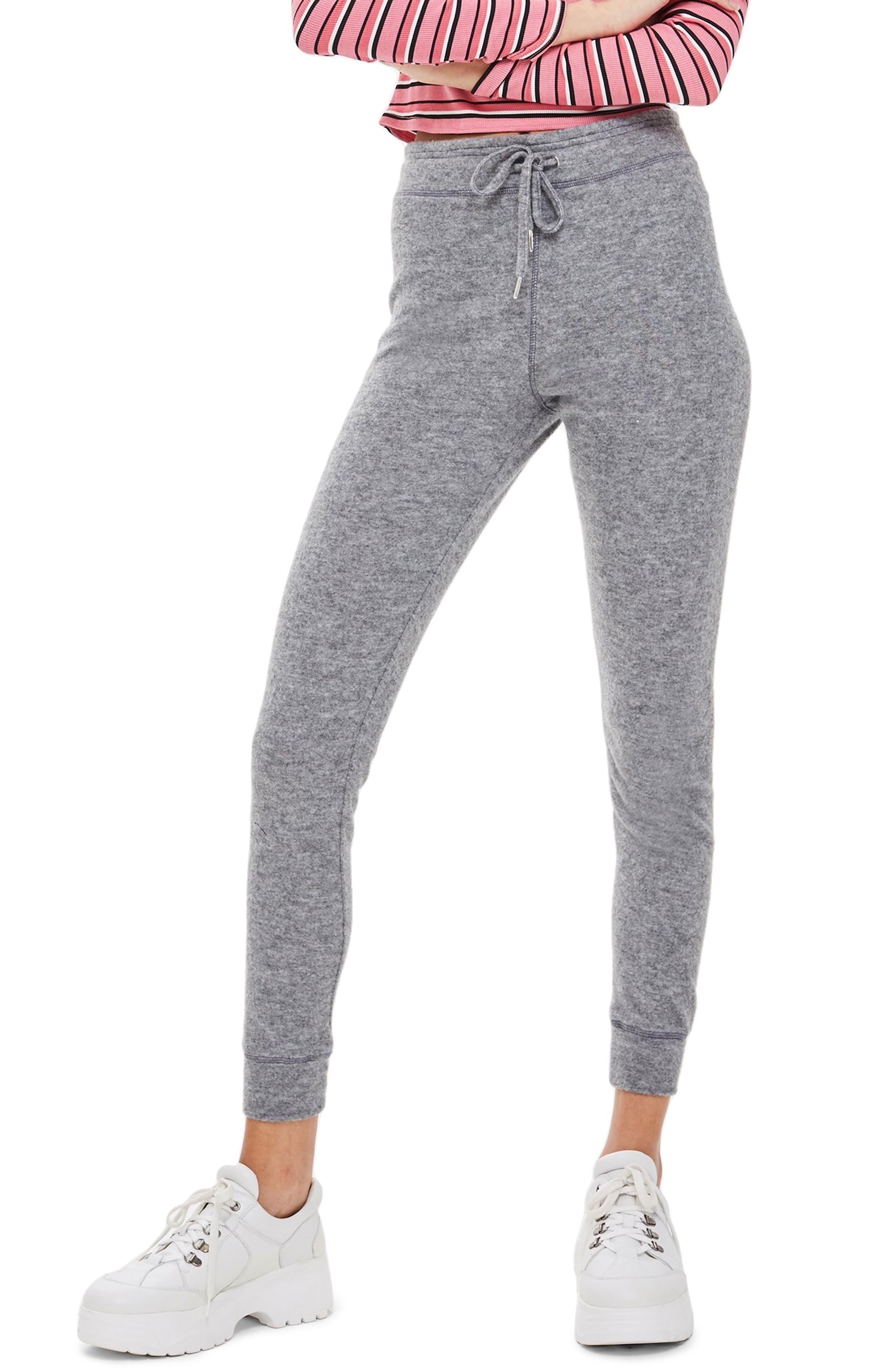 Brushed Super Skinny Jogger Pants,                         Main,                         color, GREY MARL