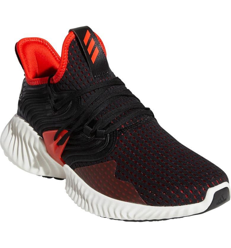free shipping 4d185 a4aa7 ADIDAS AlphaBounce Instinct Running Shoe, Main, color, CORE BLACK ACTIVE  RED