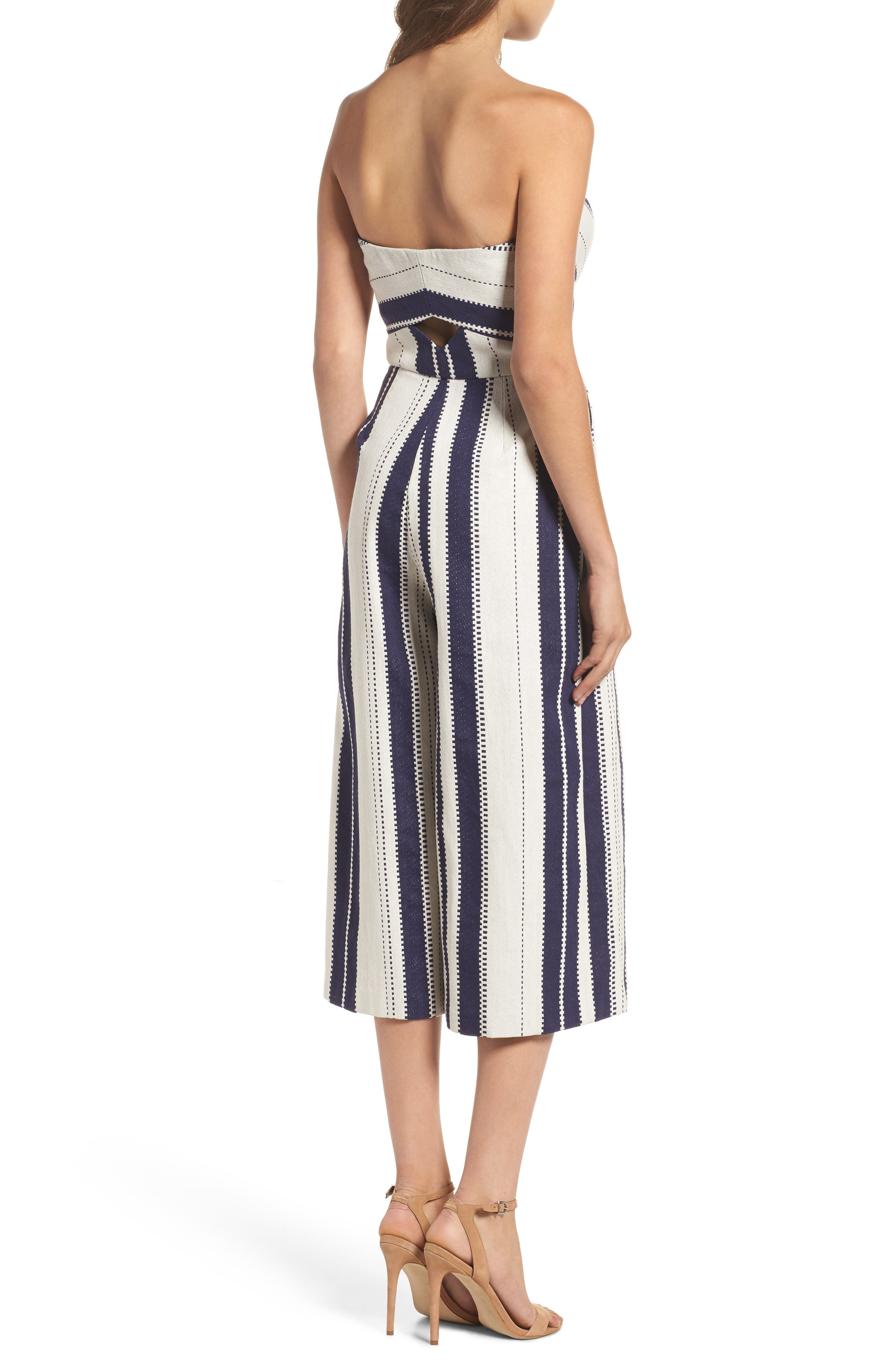Justyna Strapless Jumpsuit,                             Alternate thumbnail 2, color,