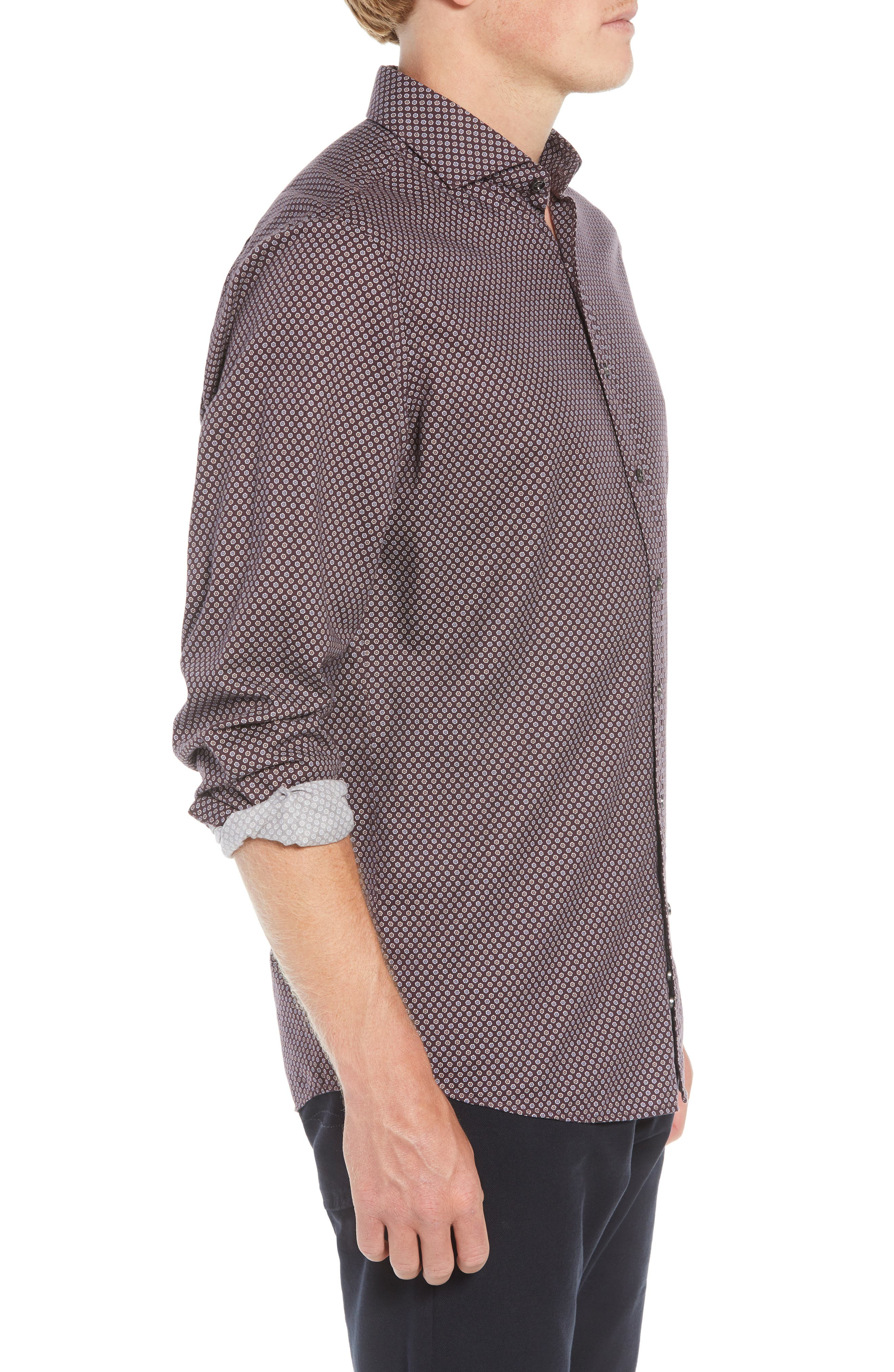 Marsden Bay Regular Fit Sport Shirt,                             Alternate thumbnail 4, color,                             BORDEAUX