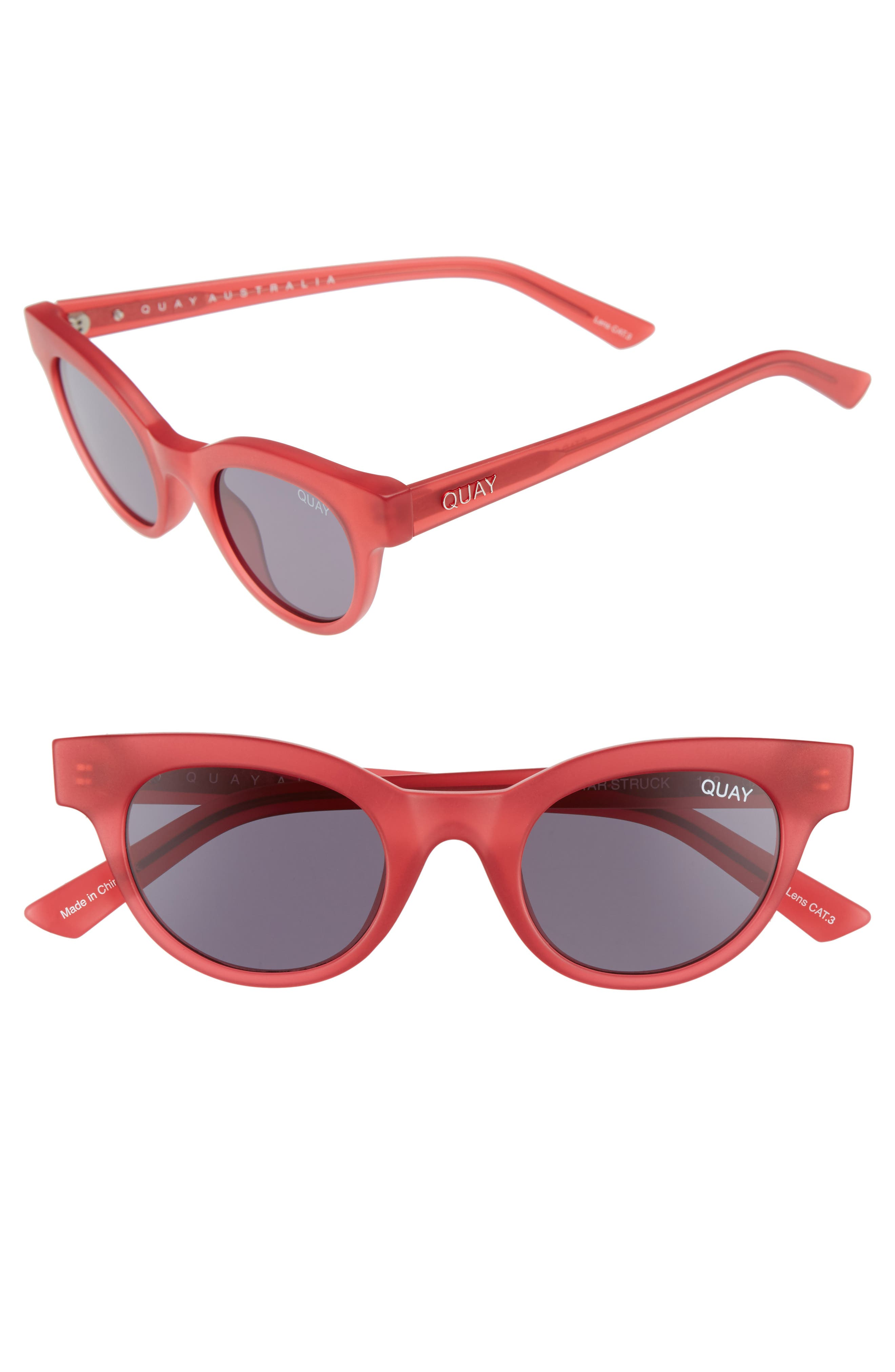 Starstruck 48mm Cat Eye Sunglasses,                             Main thumbnail 1, color,                             PINK SMOKE