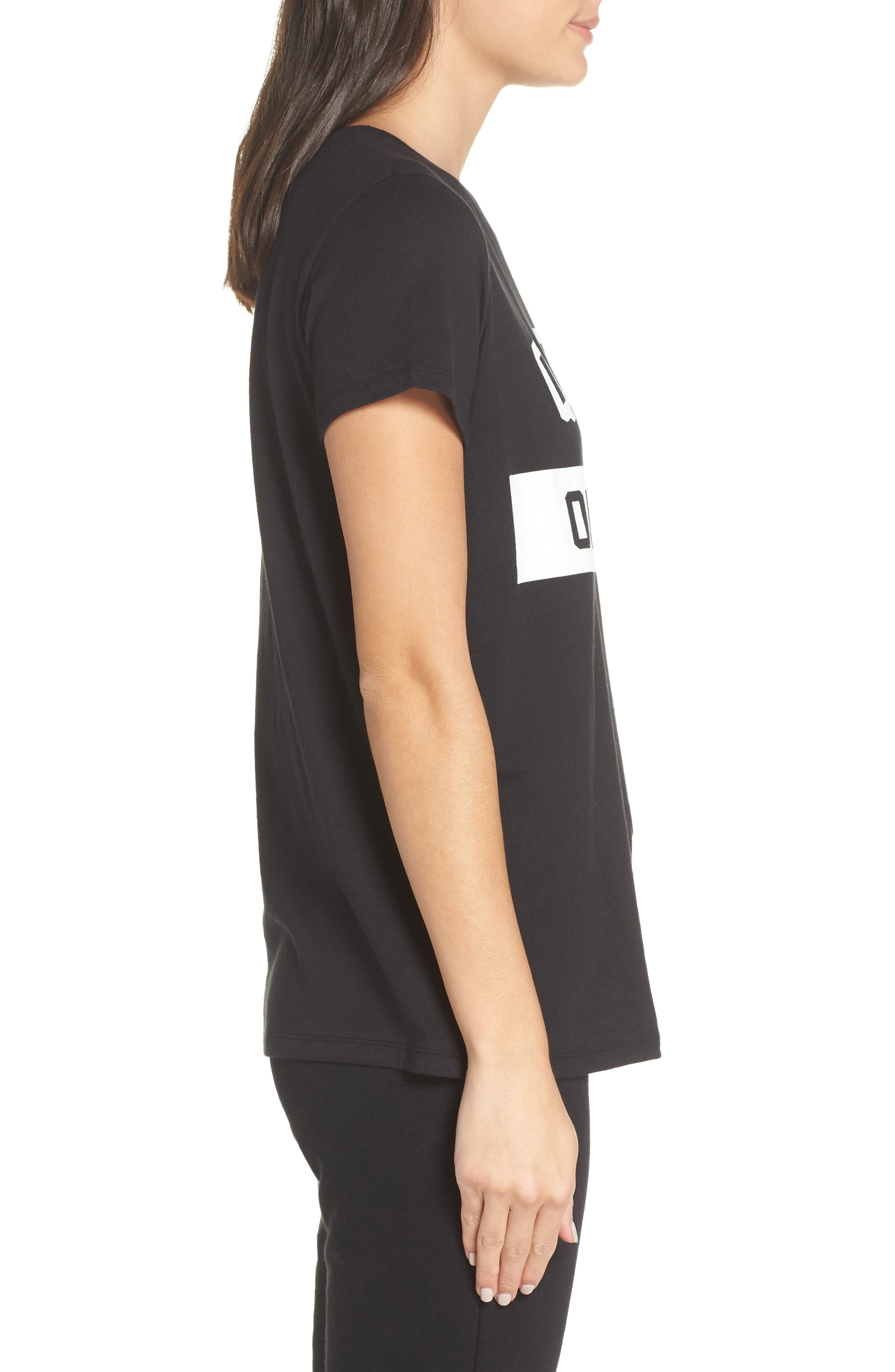 Queen Off Duty Tee,                             Alternate thumbnail 3, color,                             BLACK