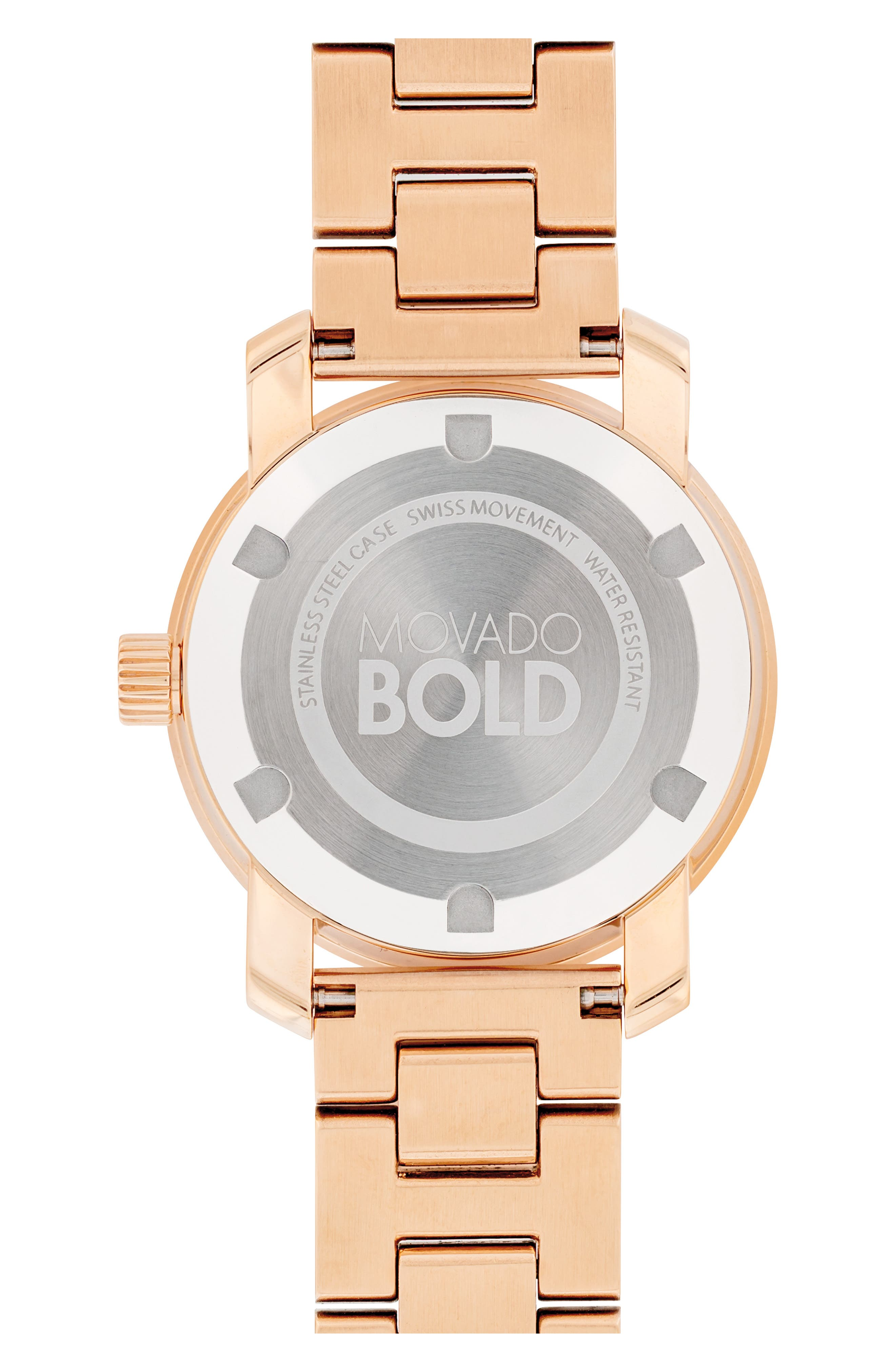 Bold Iconic Bracelet Watch, 30mm,                             Alternate thumbnail 2, color,                             ROSE GOLD