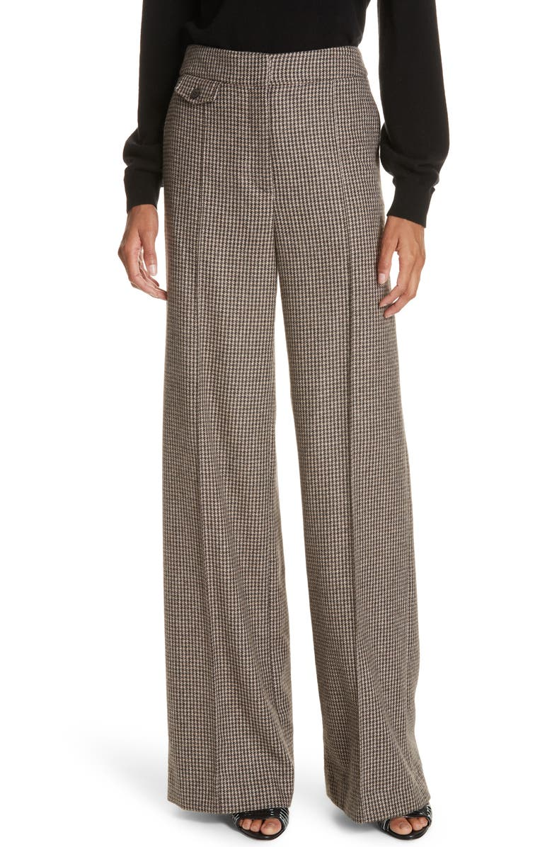 Jewell Houndstooth Trousers,                         Main,                         color, BROWN/ TAN