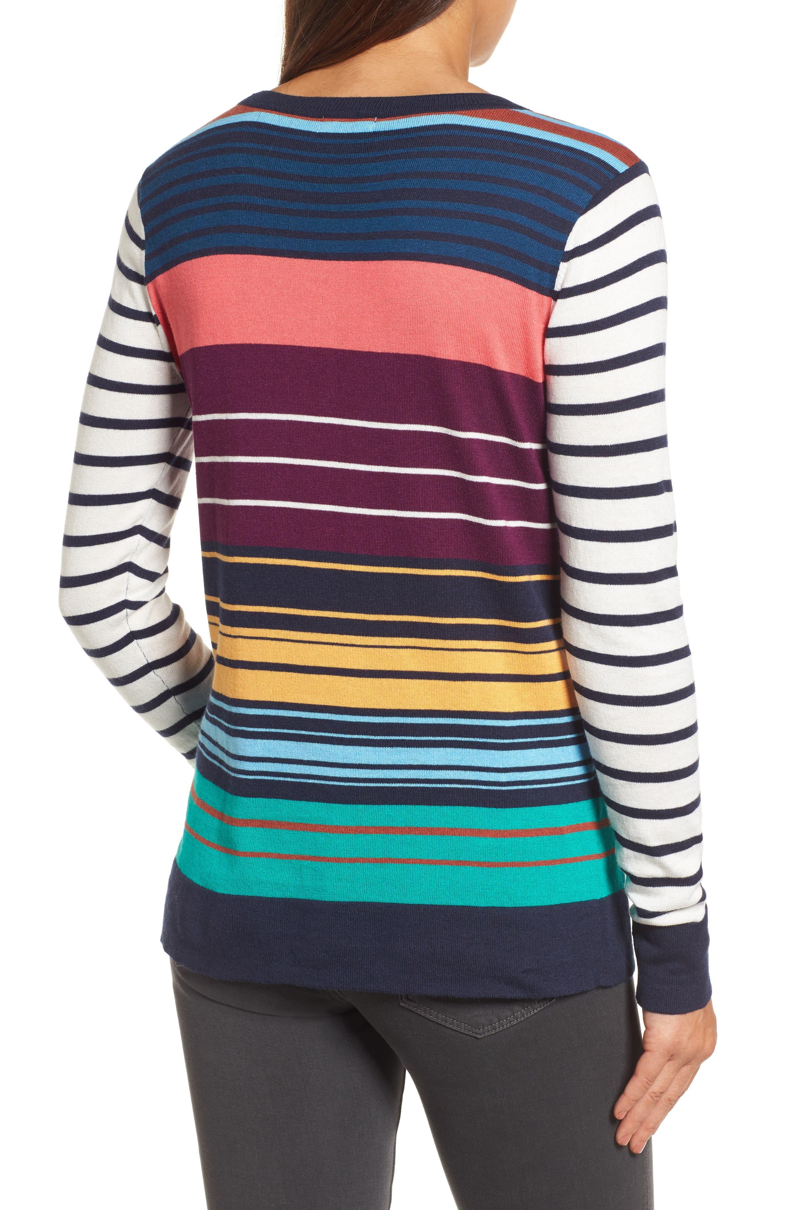 Colorblock Stripe Sweater,                             Alternate thumbnail 2, color,                             410