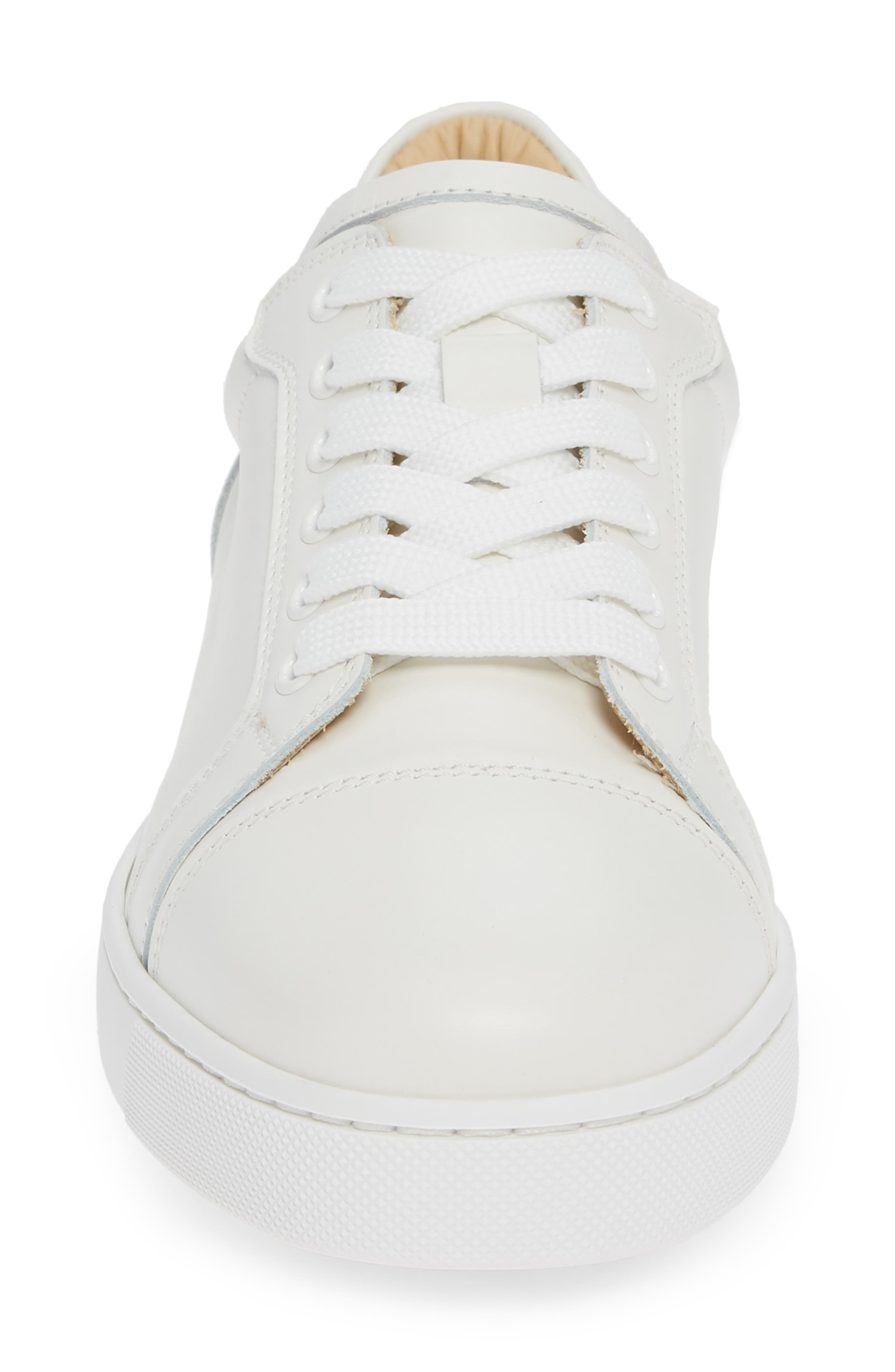 Veira Lace-Up Sneaker,                             Alternate thumbnail 4, color,                             SNOW WHITE