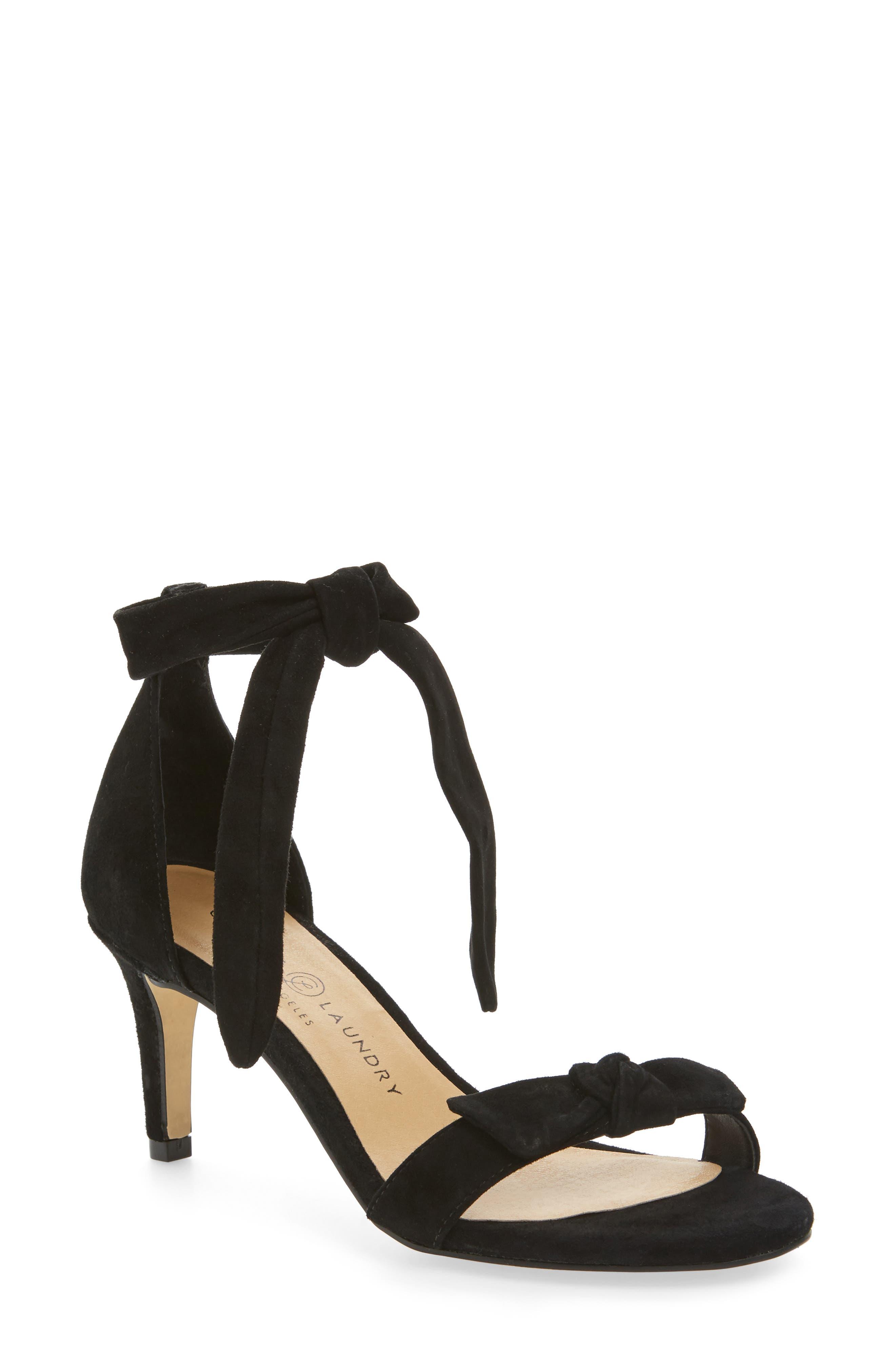 Rhonda Ankle Tie Sandal,                         Main,                         color, 001