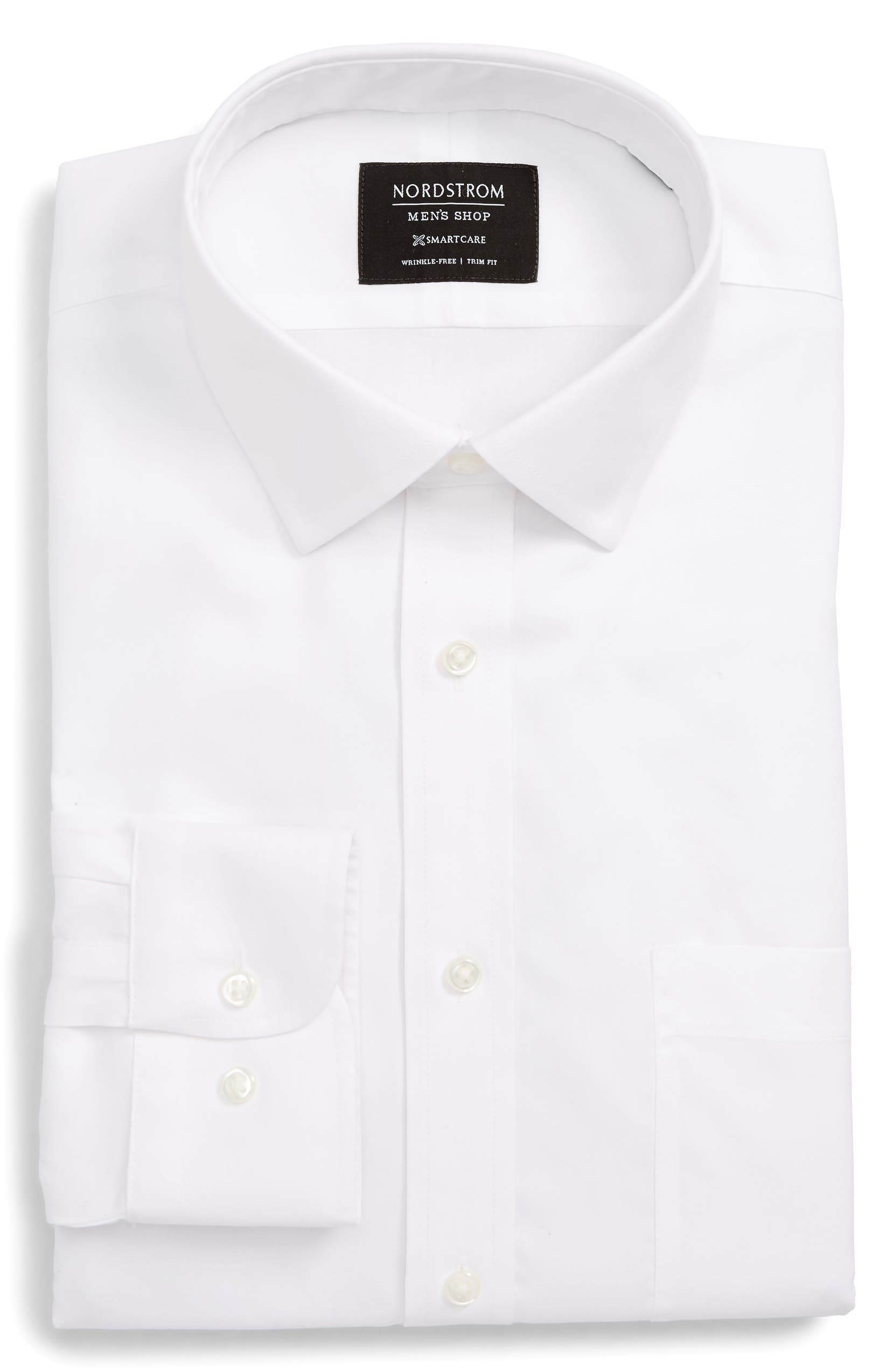 Nordstrom Mens Shop Smartcare Trim Fit Solid Dress Shirt Nordstrom
