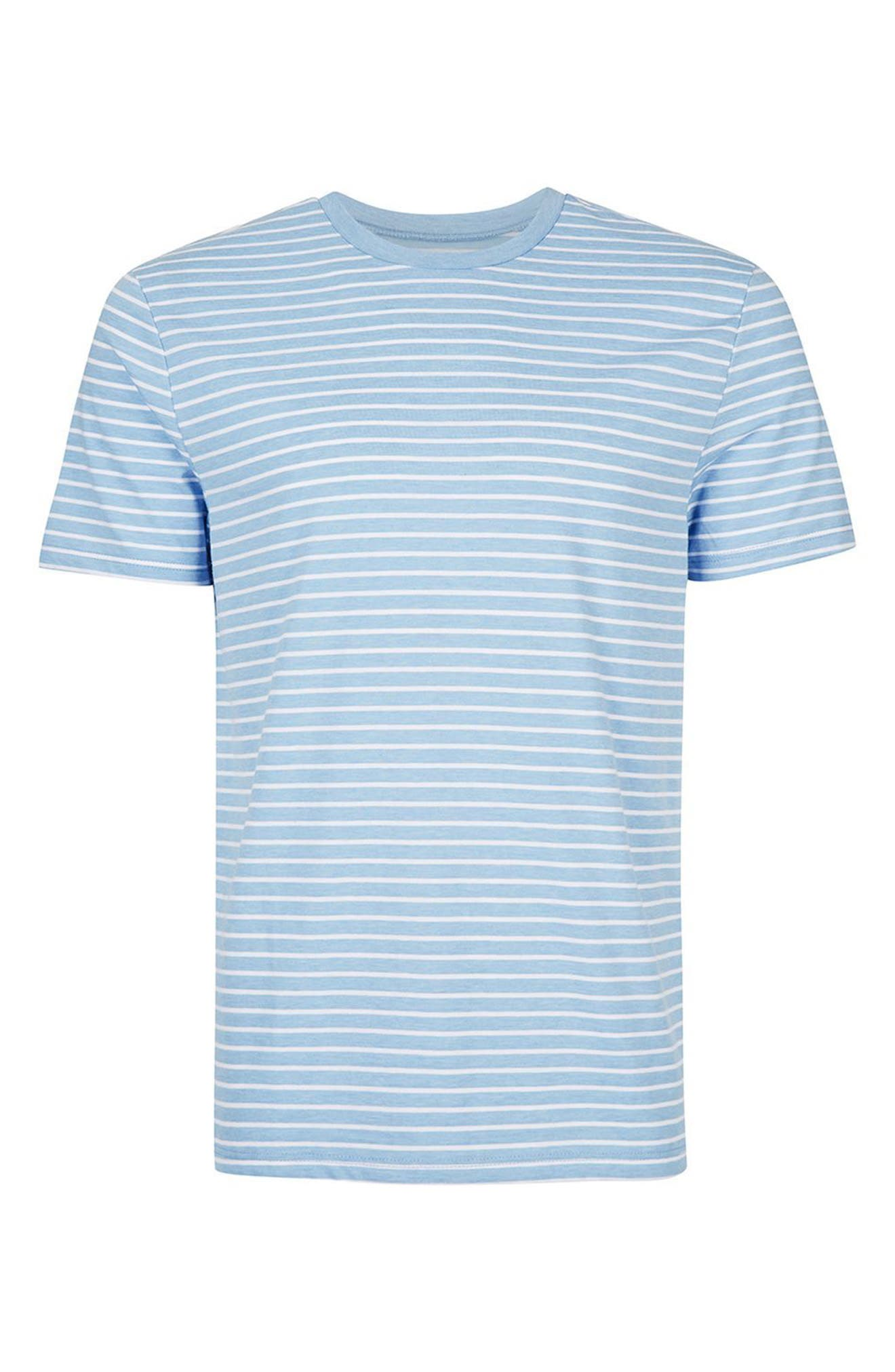 Crewneck Stripe T-Shirt,                             Alternate thumbnail 4, color,                             450