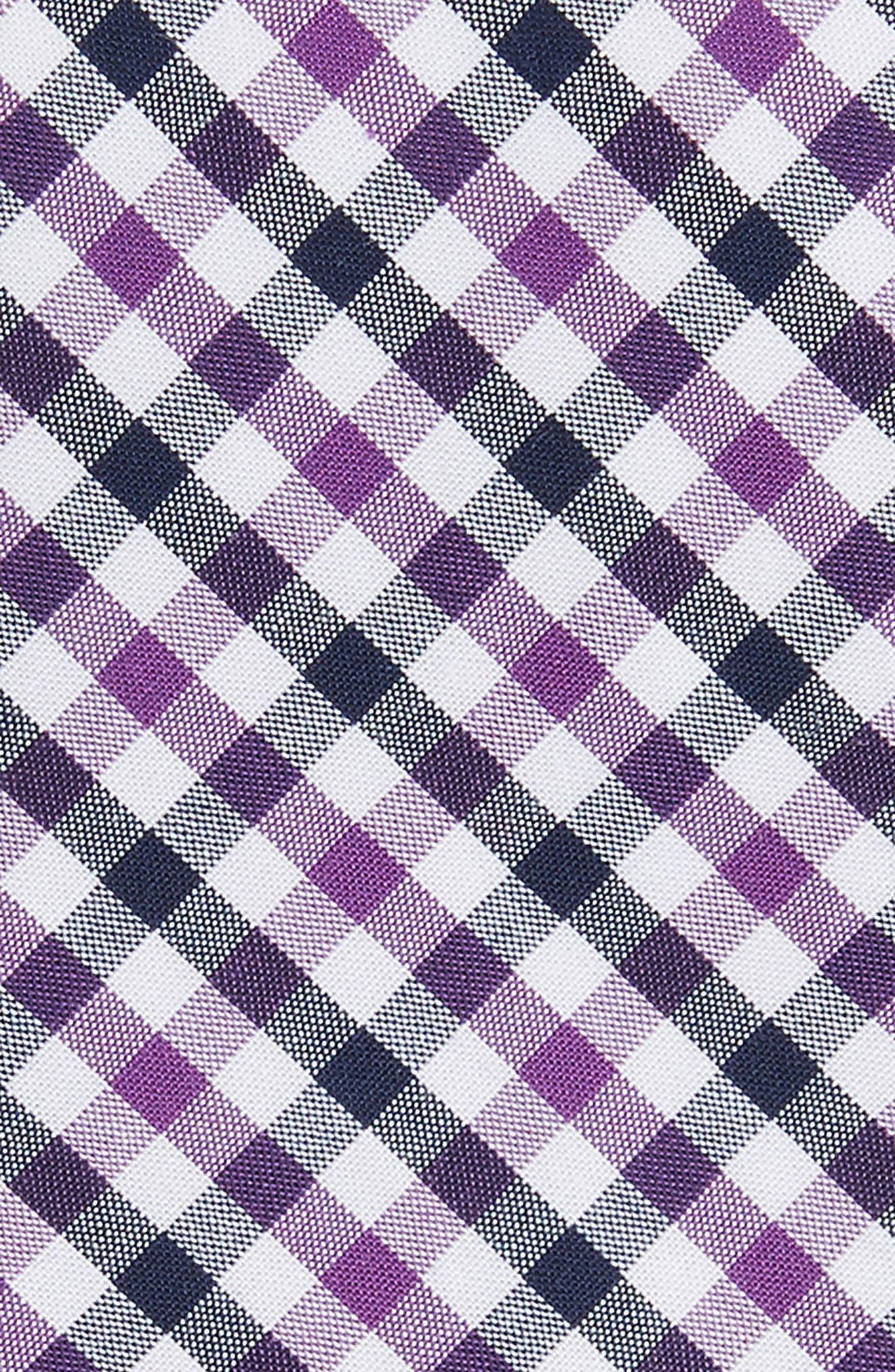 Robin Diamond Check Skinny Tie,                             Alternate thumbnail 8, color,
