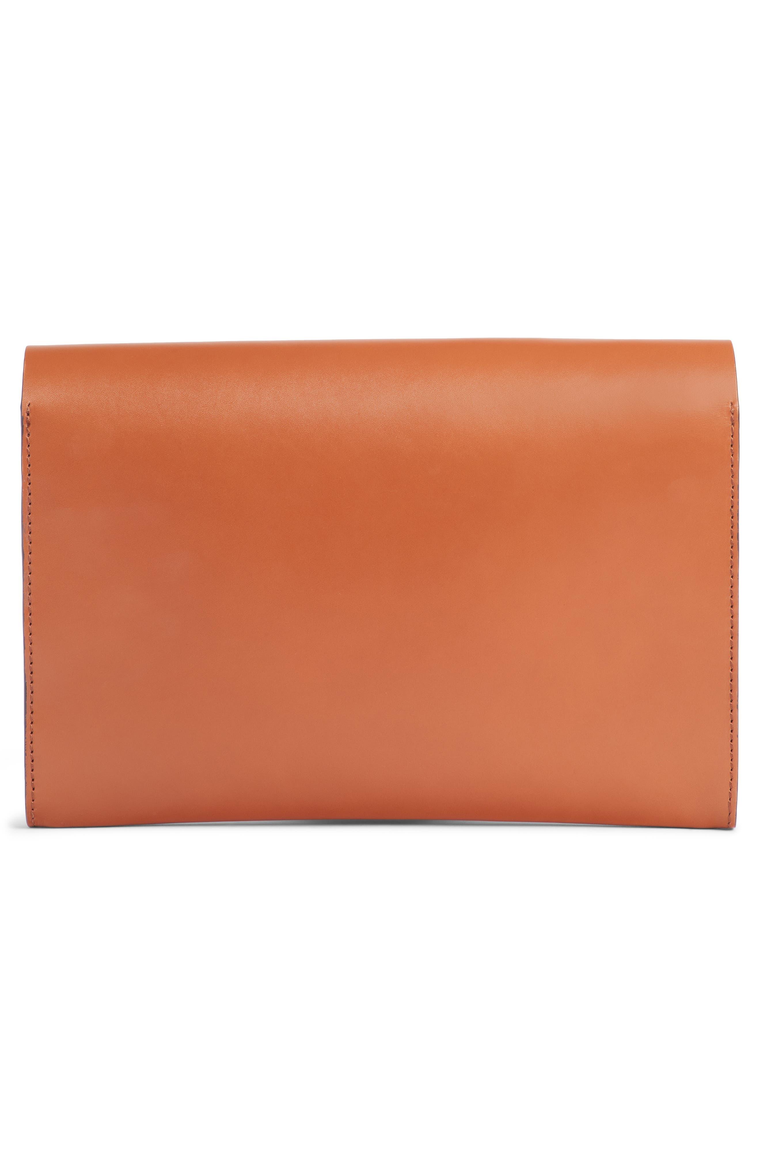 DRIES VAN NOTEN,                             Leather Envelope Clutch,                             Alternate thumbnail 2, color,                             200