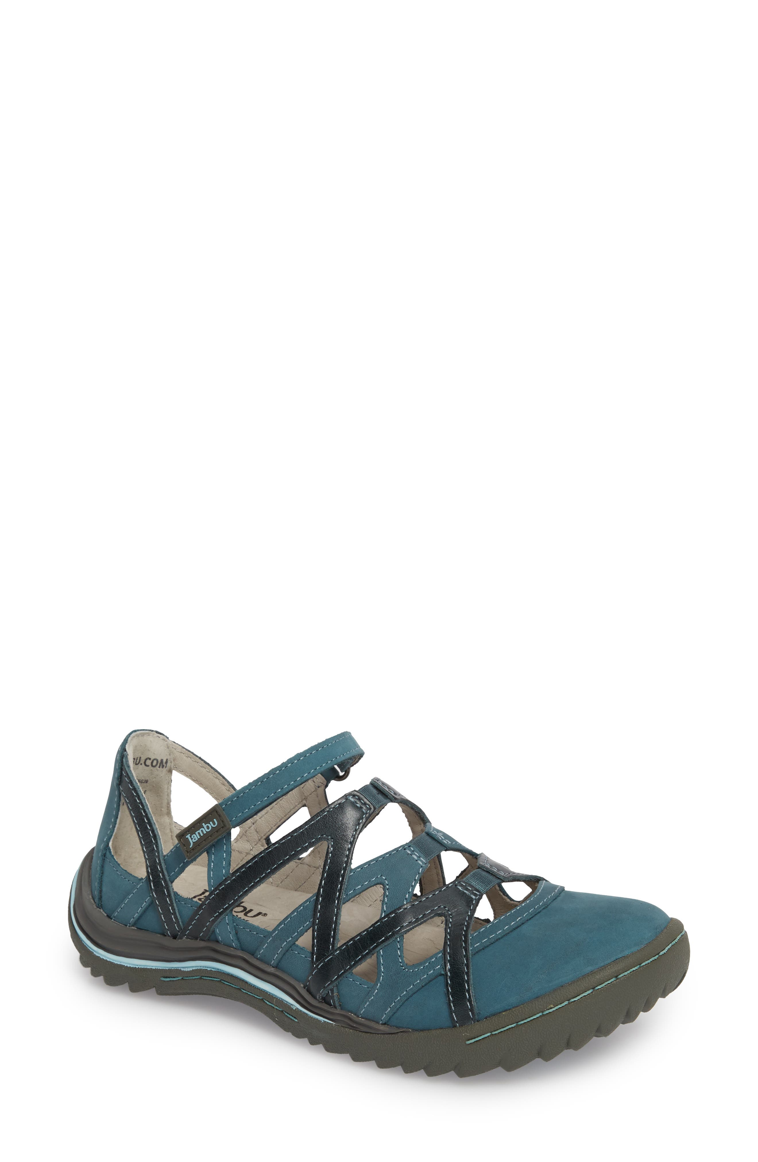 Jambu Tangerine Gladiator Sport Sandal- Blue/green