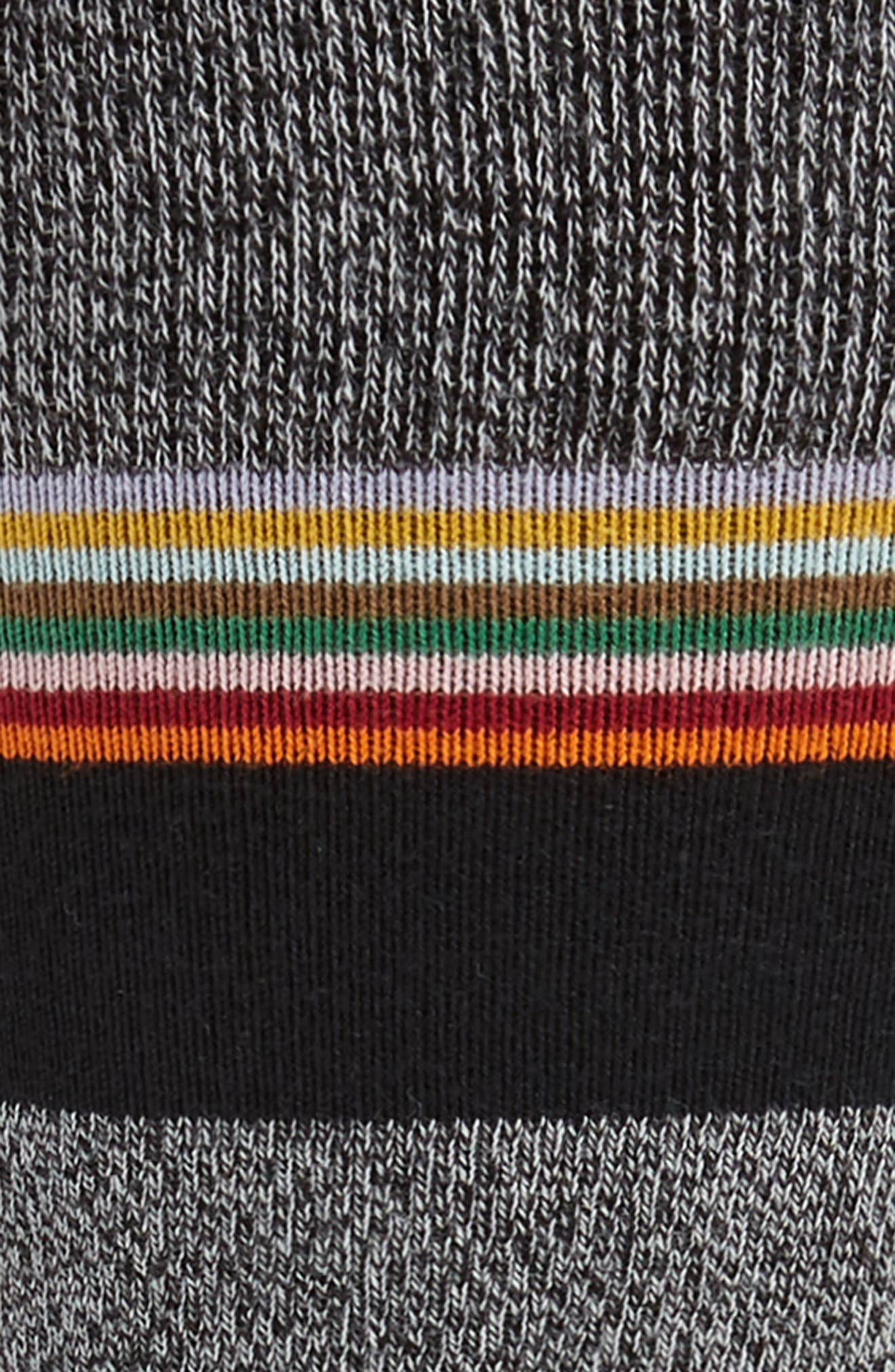 Sol Stripe Socks,                             Alternate thumbnail 2, color,                             BLACK/ GREY/ BLUE