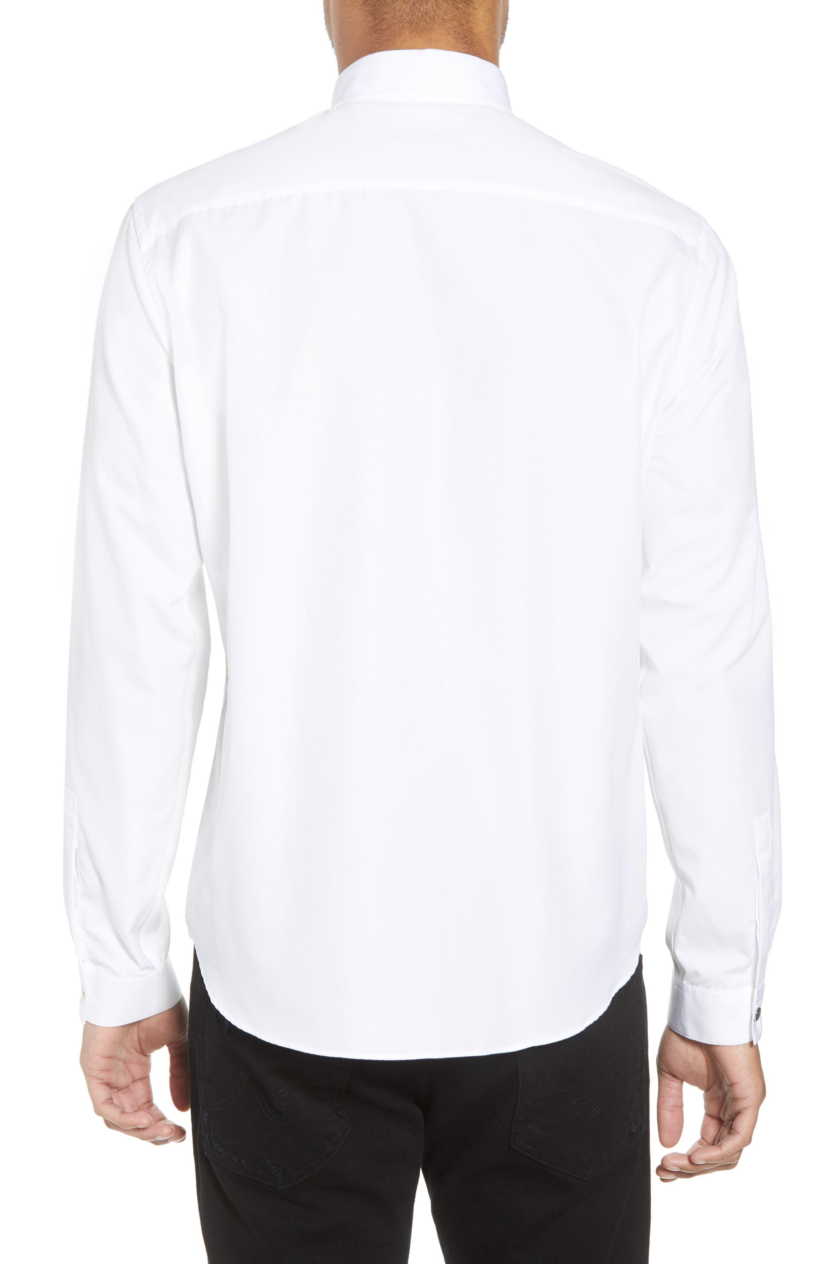 Slim Fit Solid Shirt,                             Alternate thumbnail 2, color,                             100