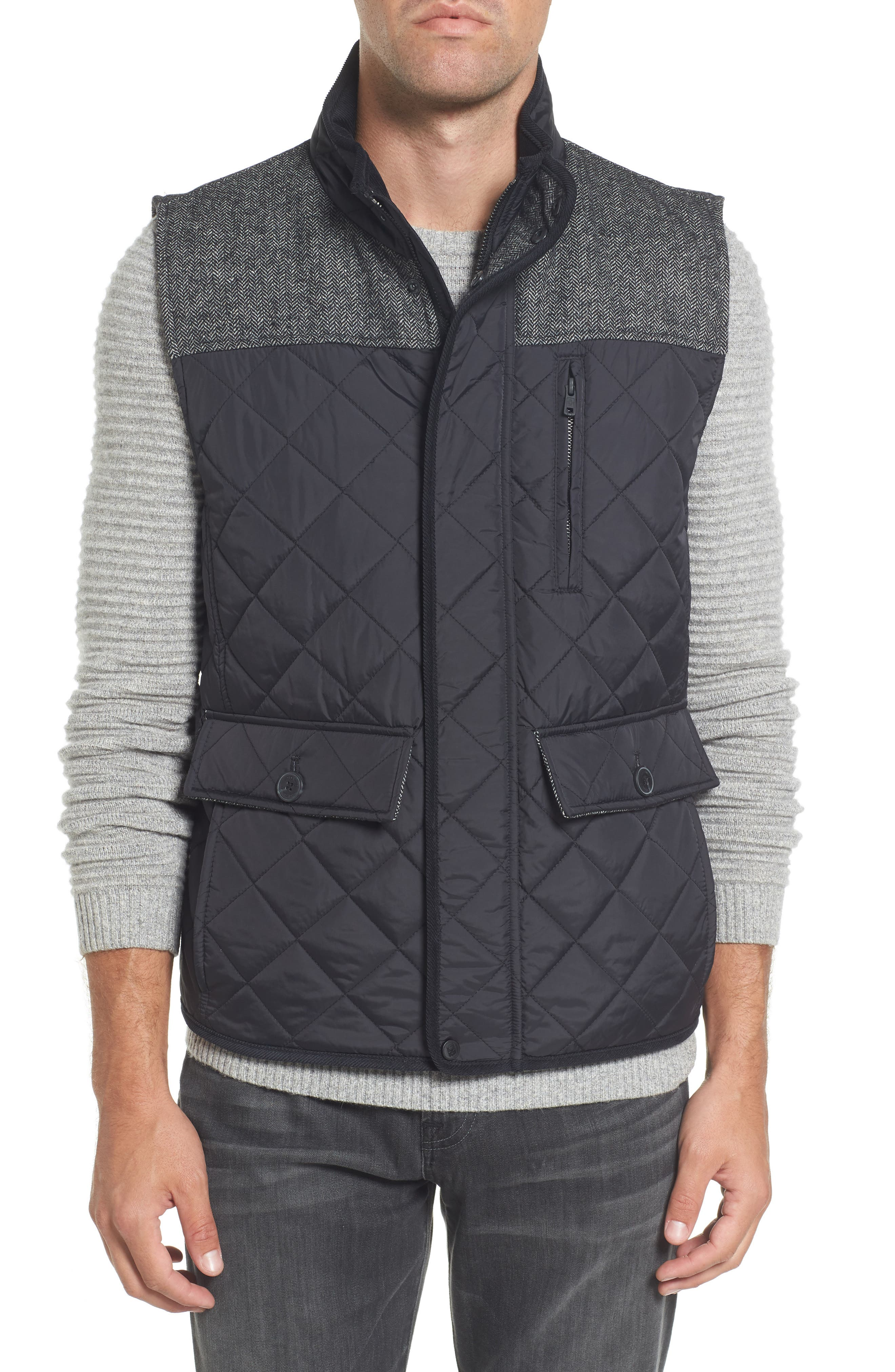 Vince Camuto Quilted Vest, Black