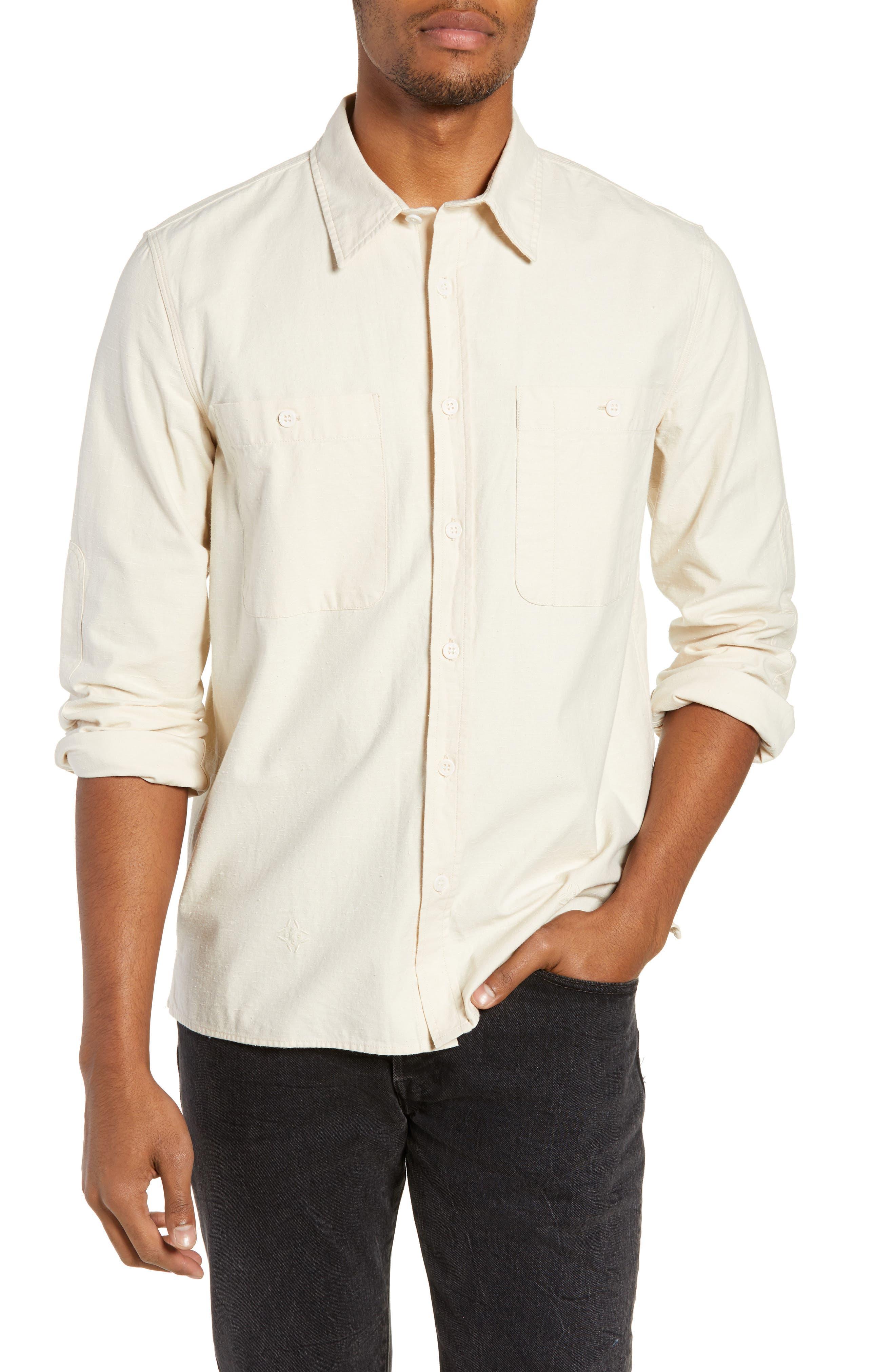 Workwear Regular Fit Shirt,                         Main,                         color, PRISTINE
