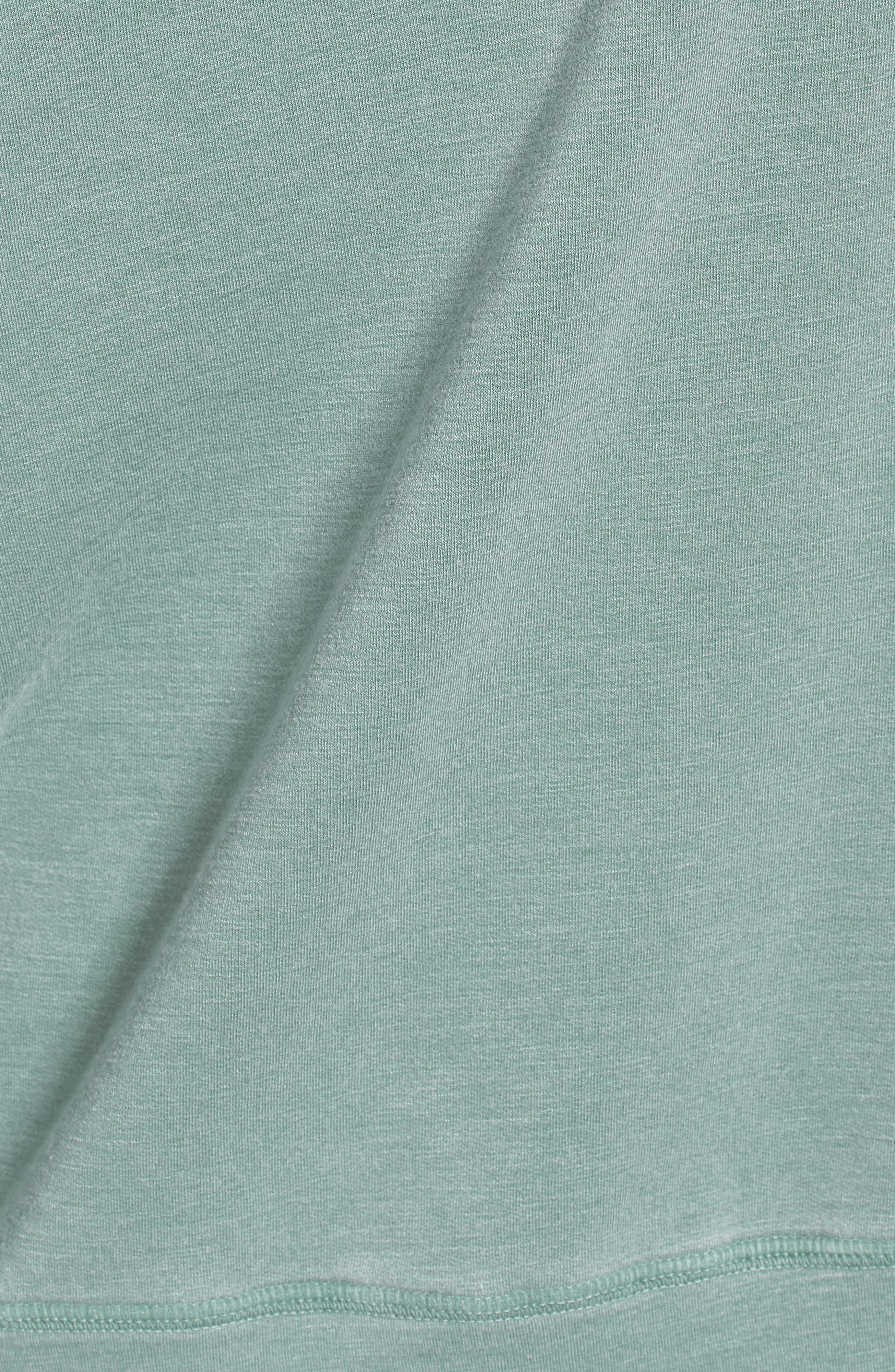Off the Shoulder Sweatshirt,                             Alternate thumbnail 6, color,                             PIGMENT BASIL