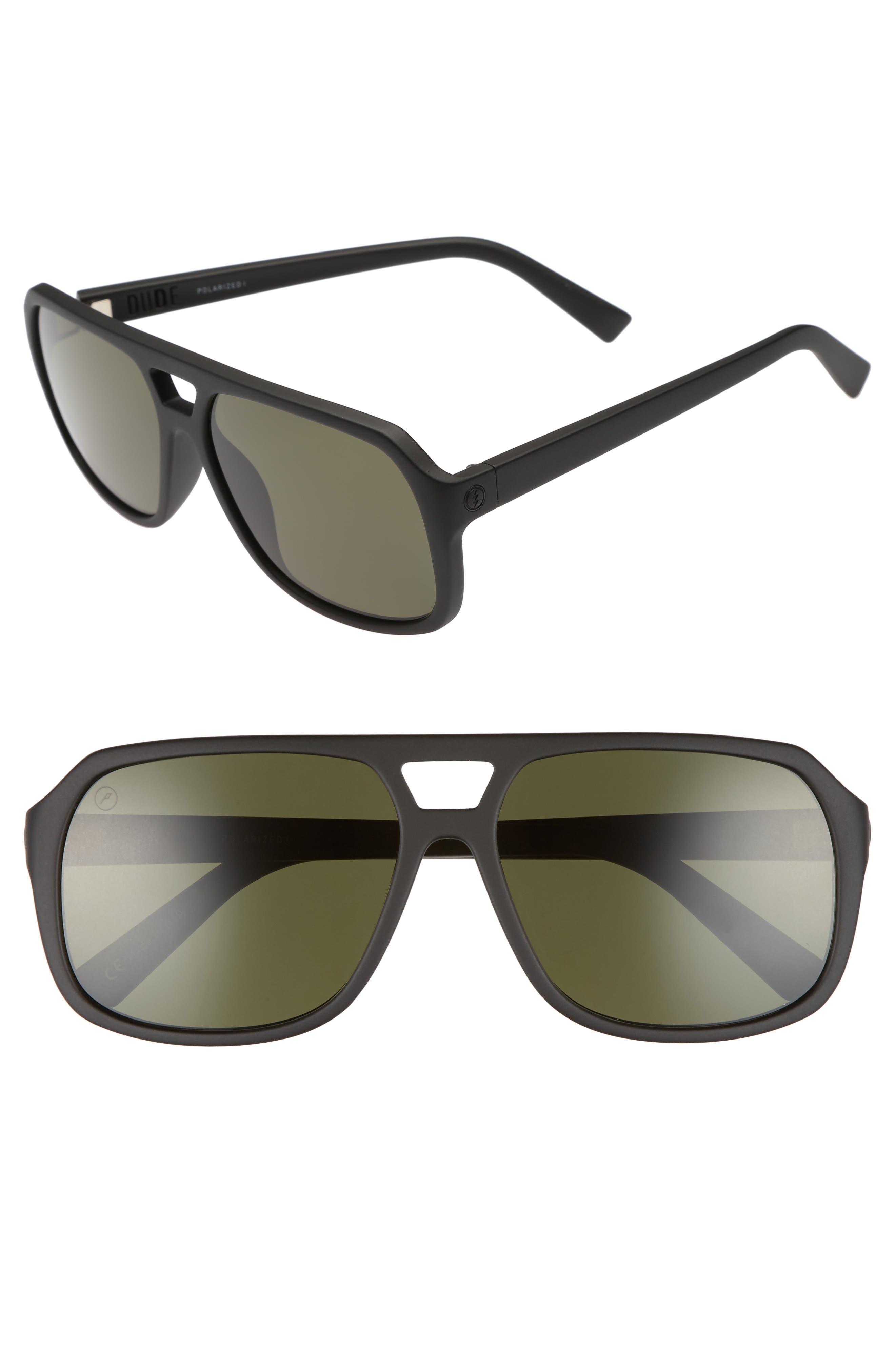 ELECTRIC,                             Dude 59mm Polarized Sunglasses,                             Main thumbnail 1, color,                             001