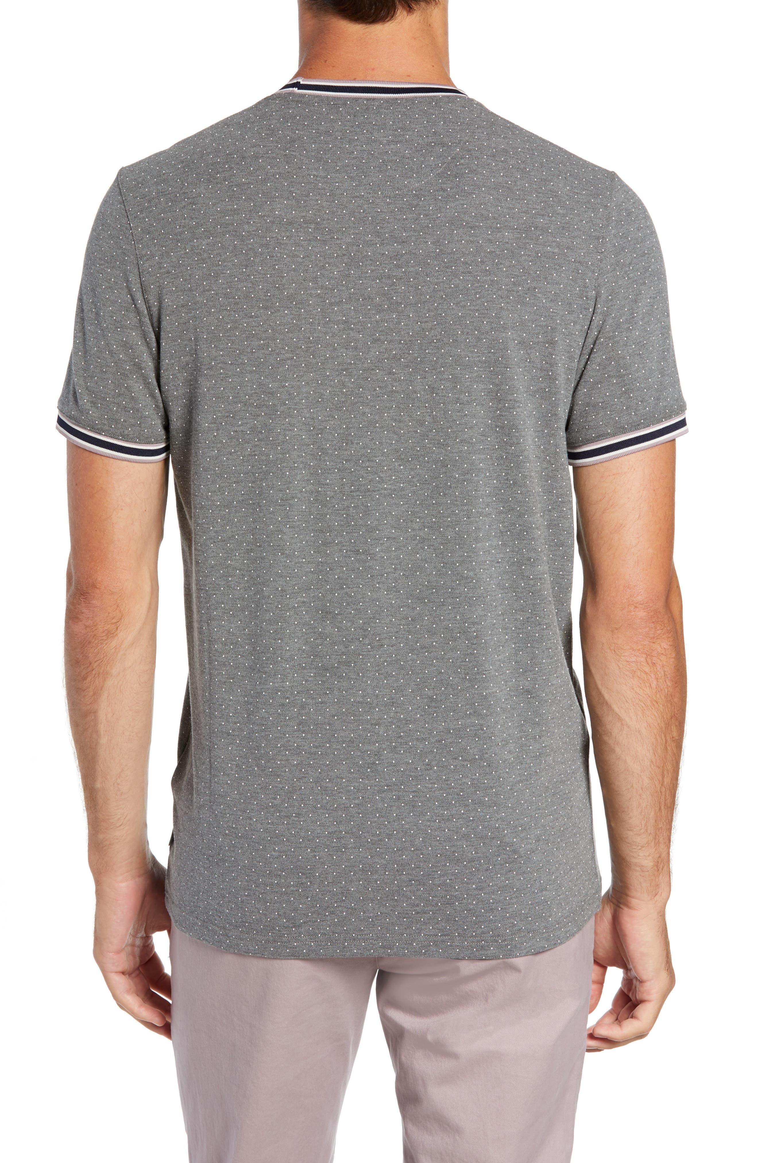 Glaad Trim Fit Mini Spot T-Shirt,                             Alternate thumbnail 2, color,                             GREY MARL