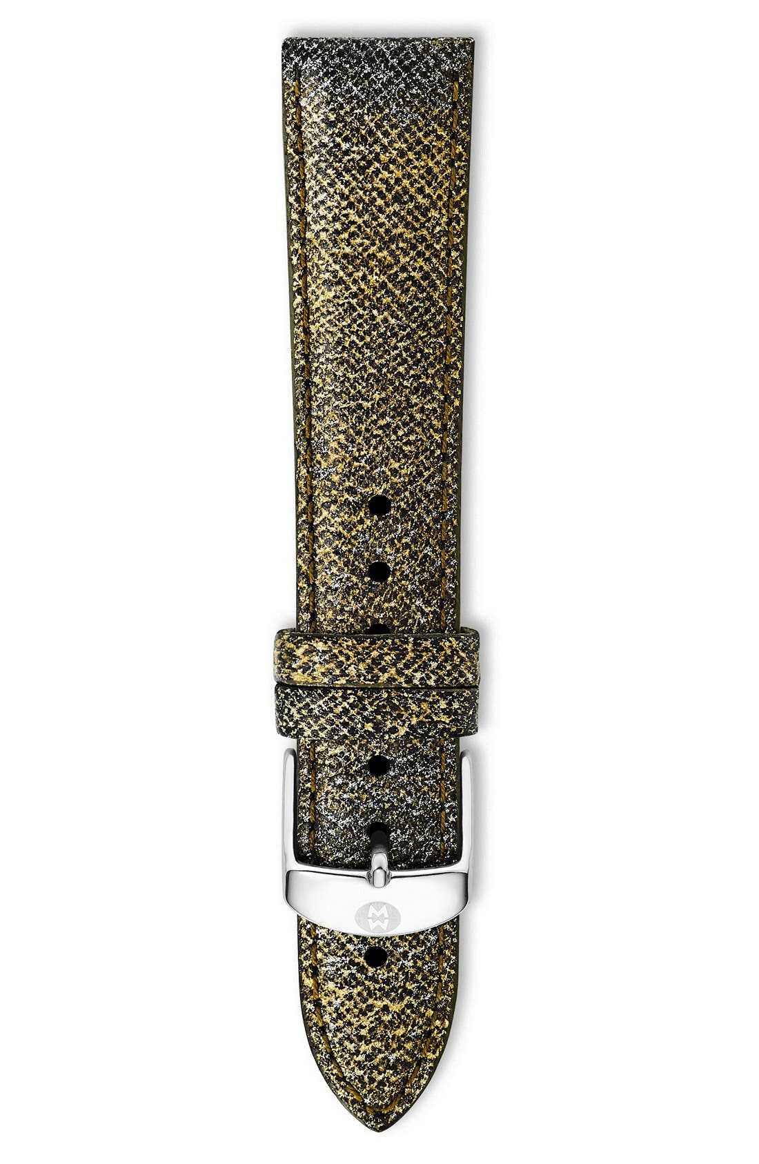 18mm Saffiano Leather Watch Strap,                             Main thumbnail 6, color,