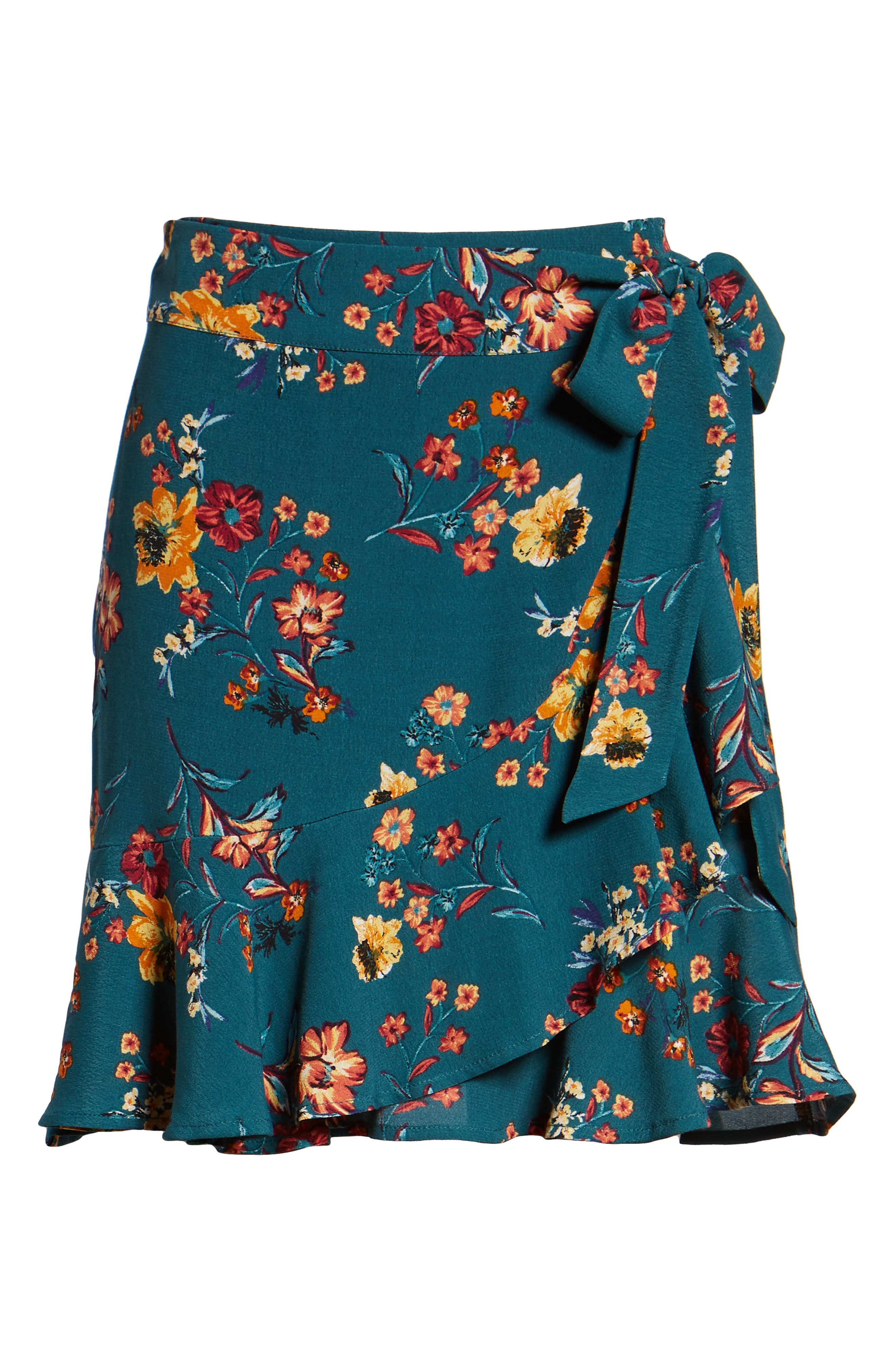 Aviana Ruffle Wrap Skirt,                             Alternate thumbnail 6, color,                             348