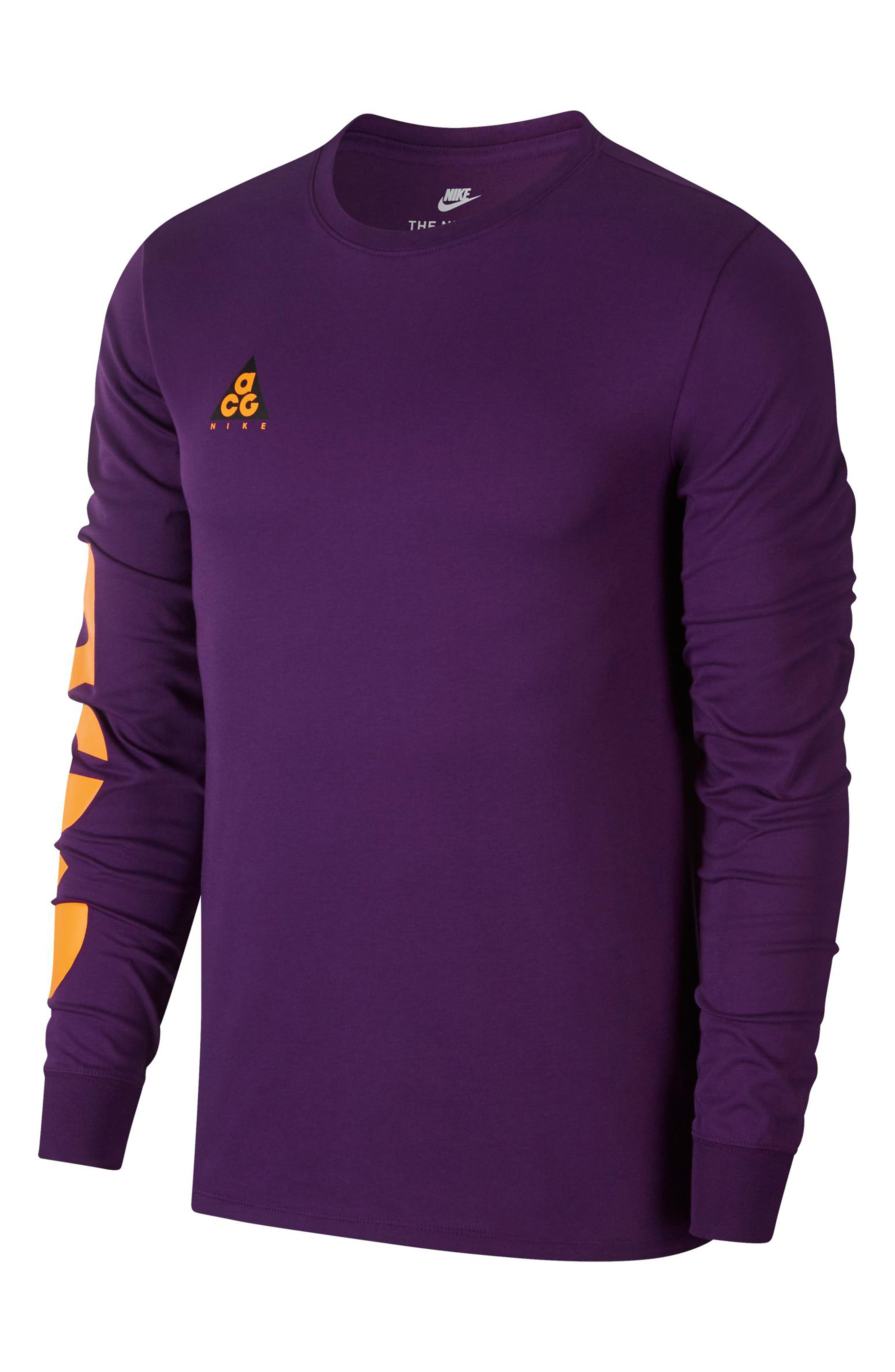 Nike Nsw Acg Graphic T-Shirt, Purple
