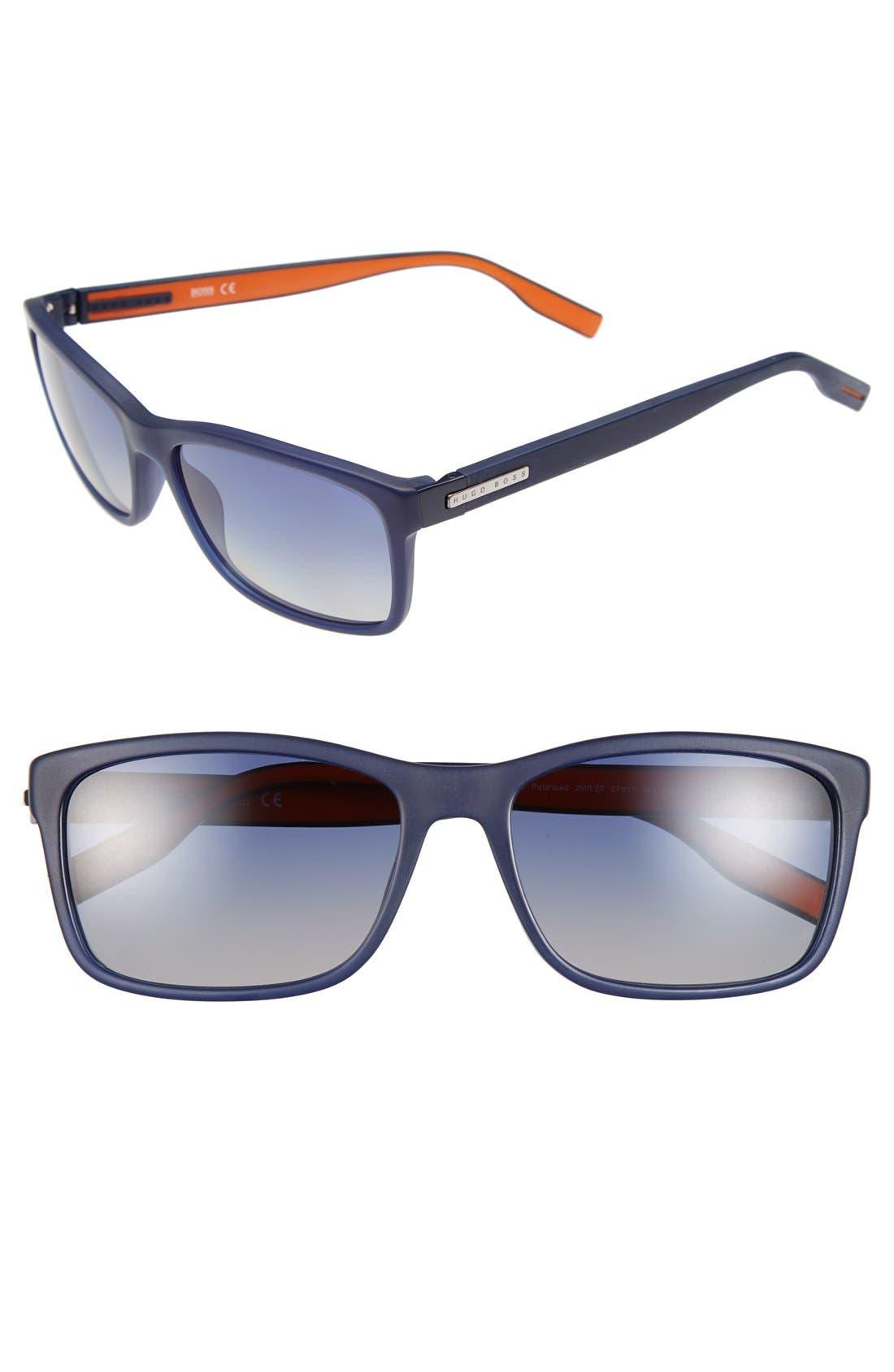 57mm Polarized Retro Sunglasses,                             Main thumbnail 3, color,