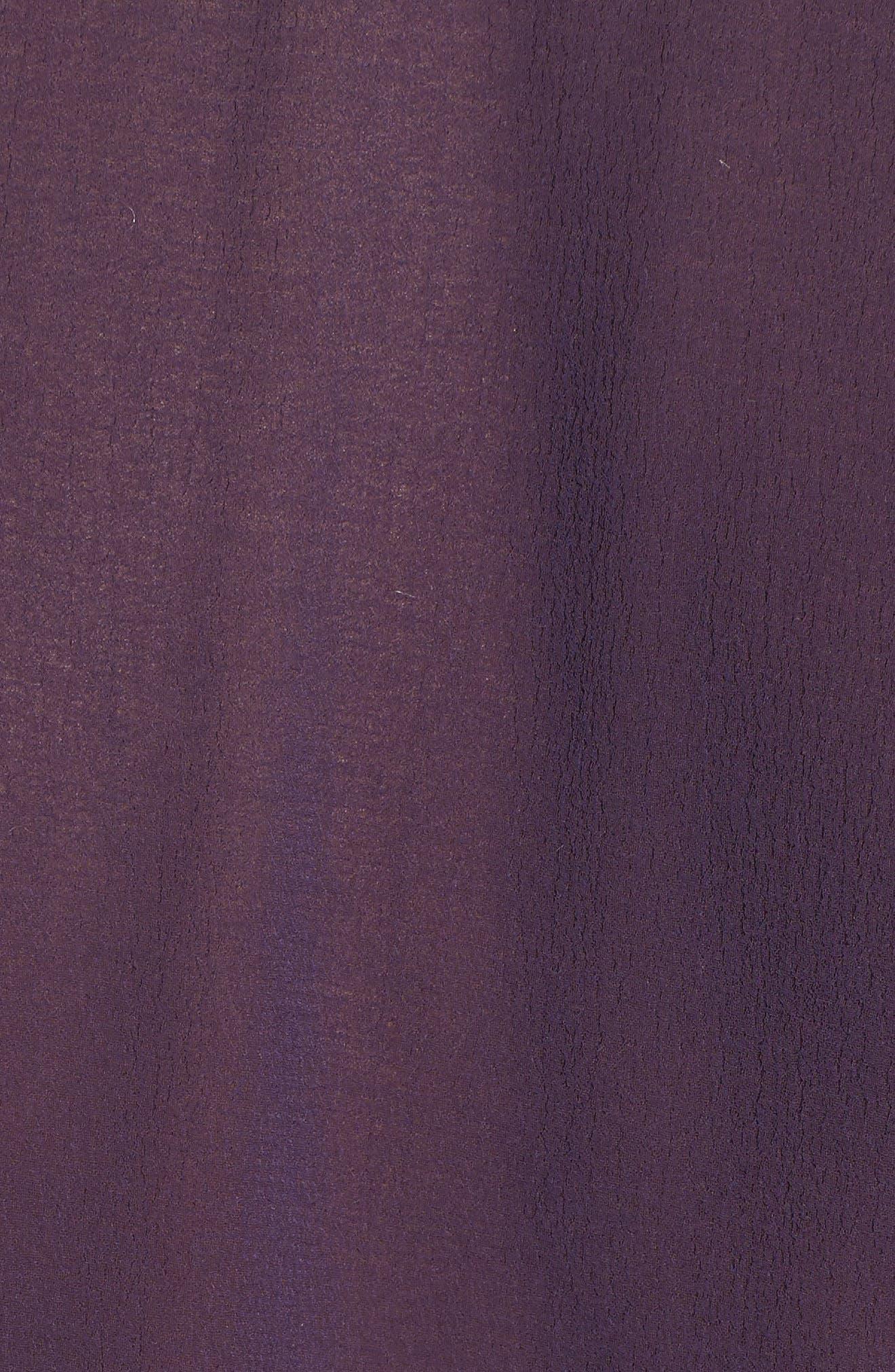 Lace Trim Top,                             Alternate thumbnail 5, color,                             PURPLE NIGHT