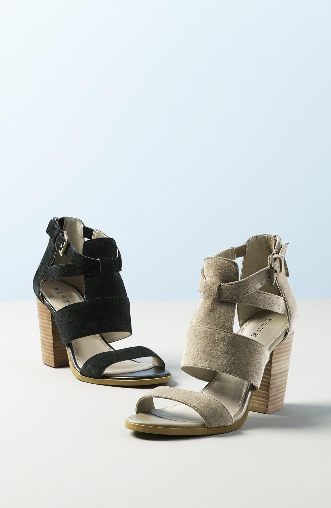 'Cora' Block Heel Sandal,                             Alternate thumbnail 2, color,                             024