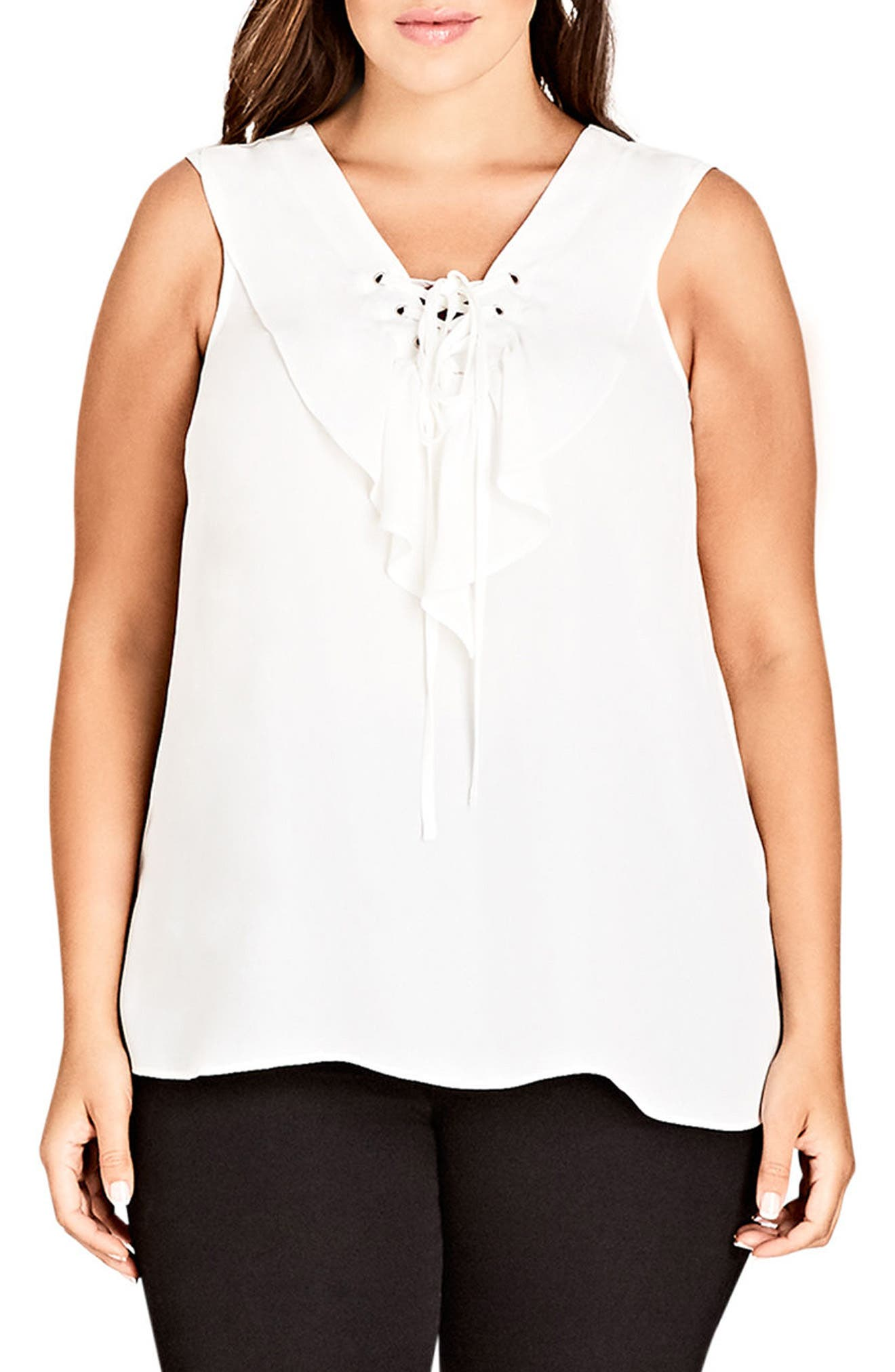 Chic City Maya Top,                             Main thumbnail 1, color,                             IVORY