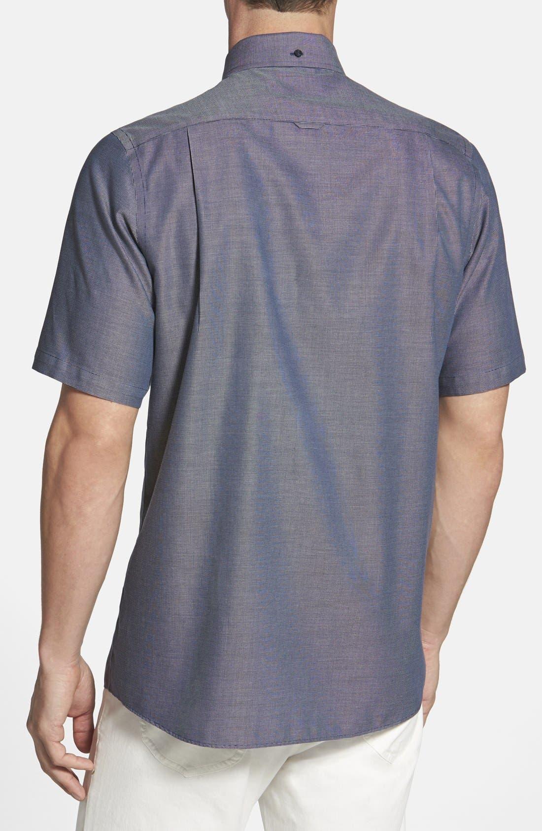 'Classic' Smartcare<sup>™</sup> Regular Fit Short Sleeve Cotton Sport Shirt,                             Alternate thumbnail 32, color,