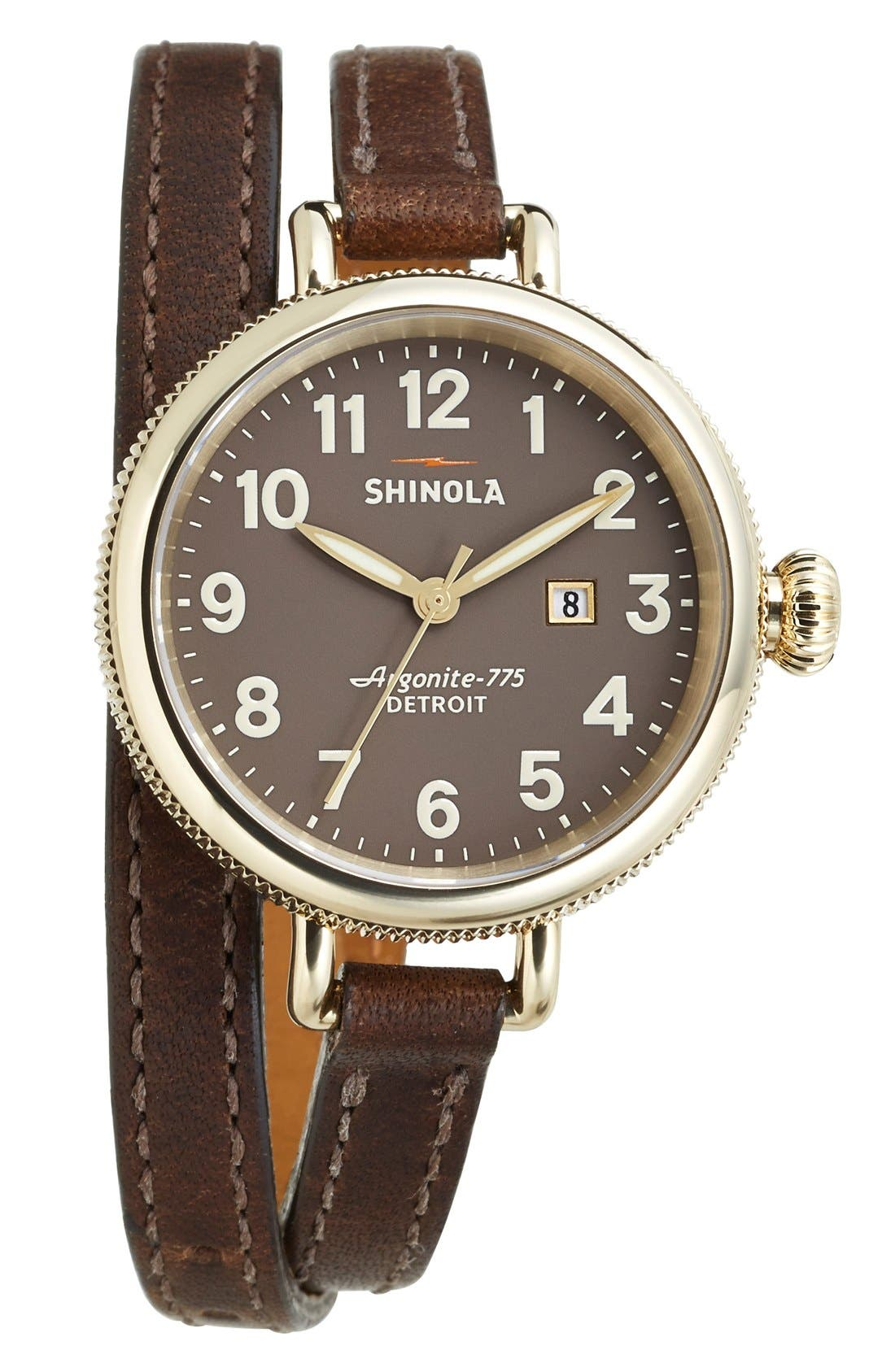 'The Birdy' Double Wrap Leather Strap Watch, 34mm,                             Alternate thumbnail 75, color,