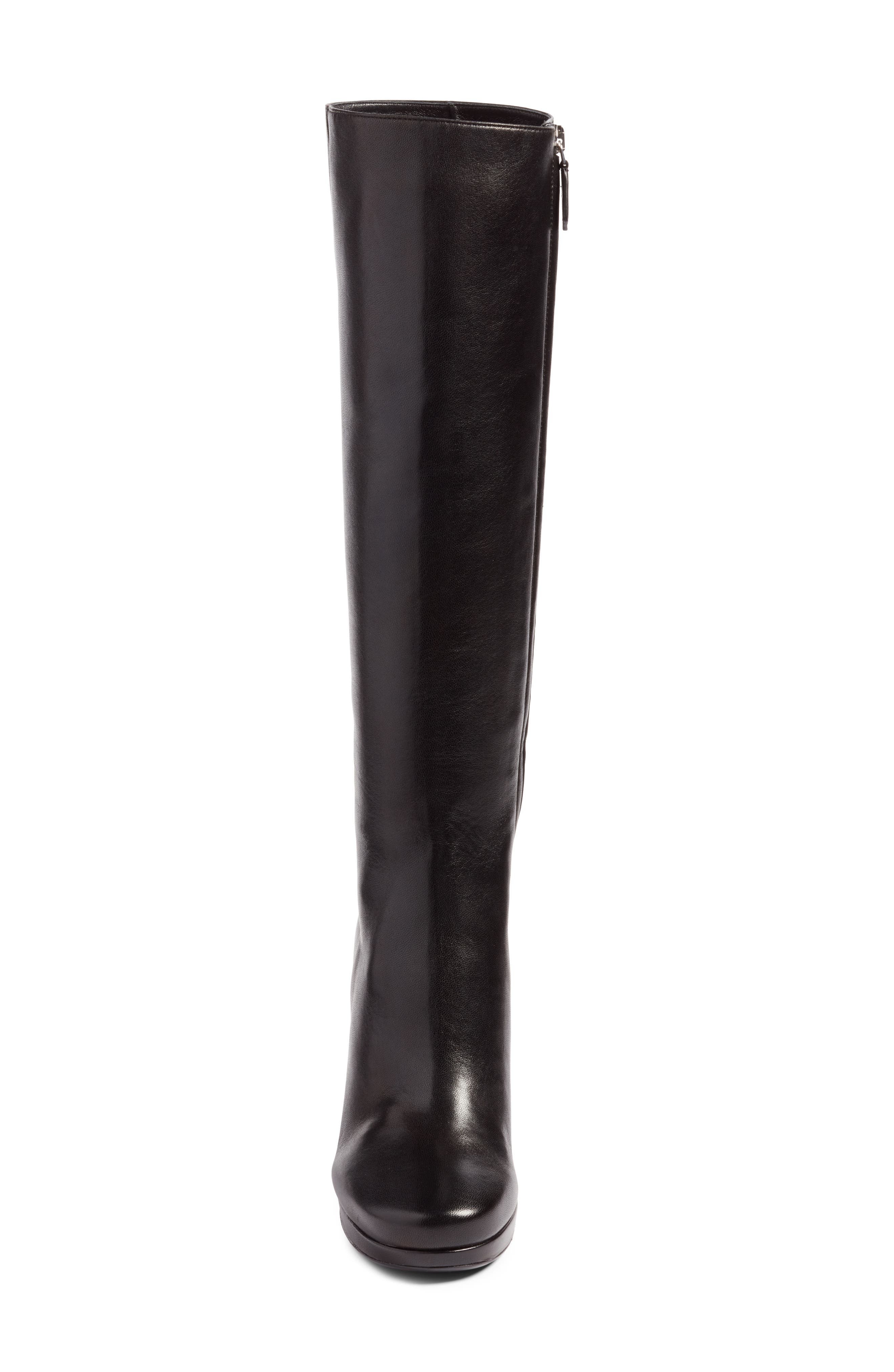 Block Heel Tall Boot,                             Alternate thumbnail 4, color,                             001
