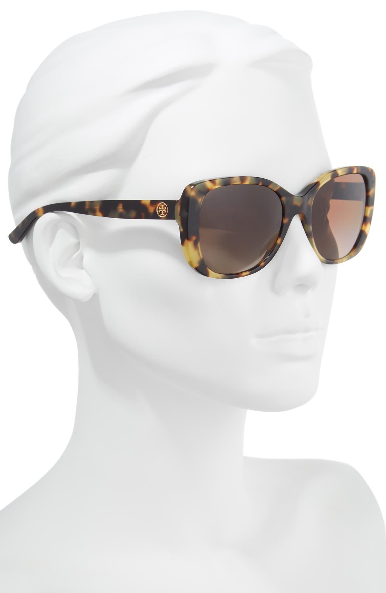 53mm Polarized Rectangle Sunglasses,                             Alternate thumbnail 2, color,                             TOKYO TORTOISE GRADIENT