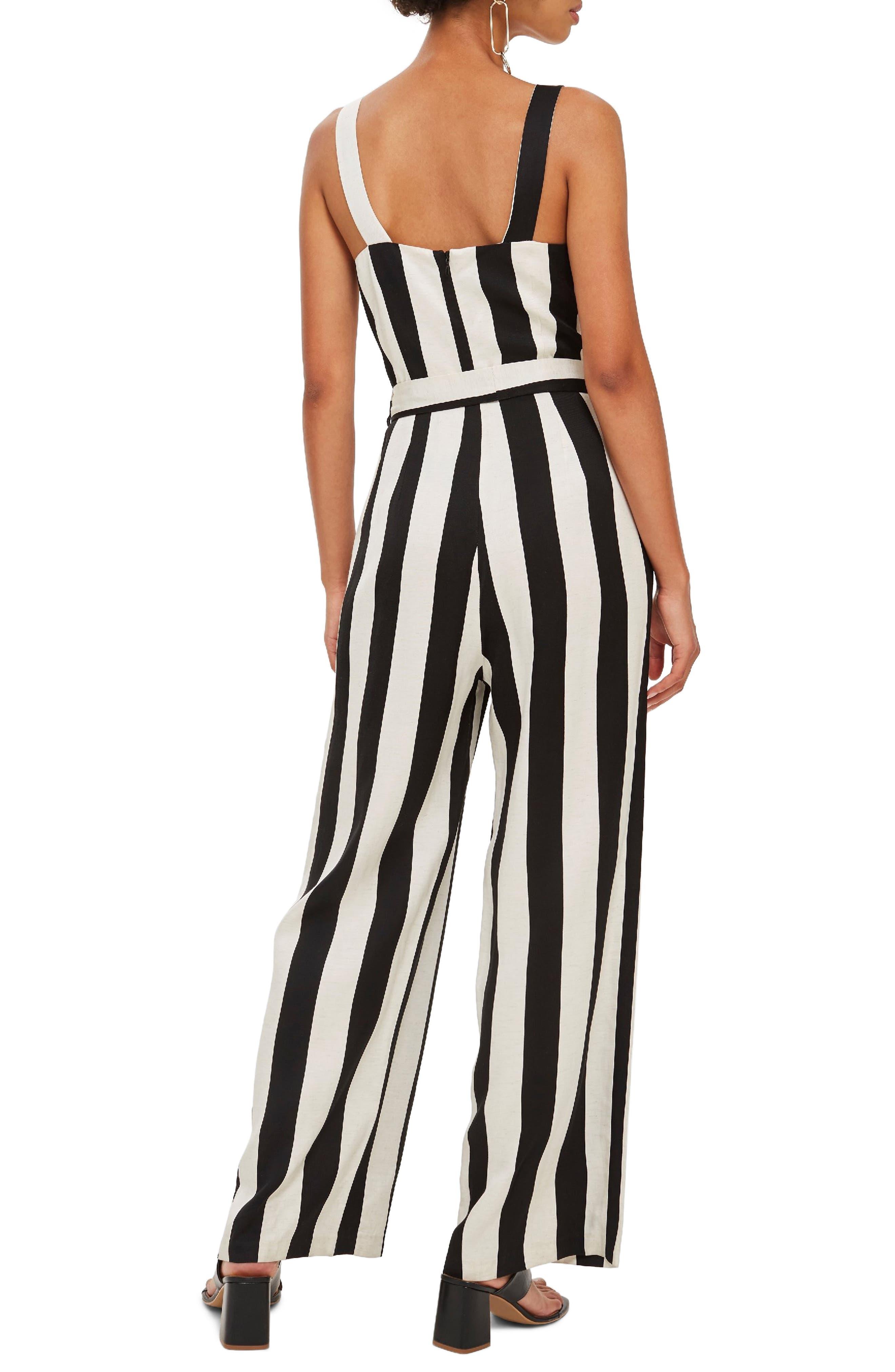 Humbug Striped Jumpsuit,                             Alternate thumbnail 2, color,                             BLACK MULTI