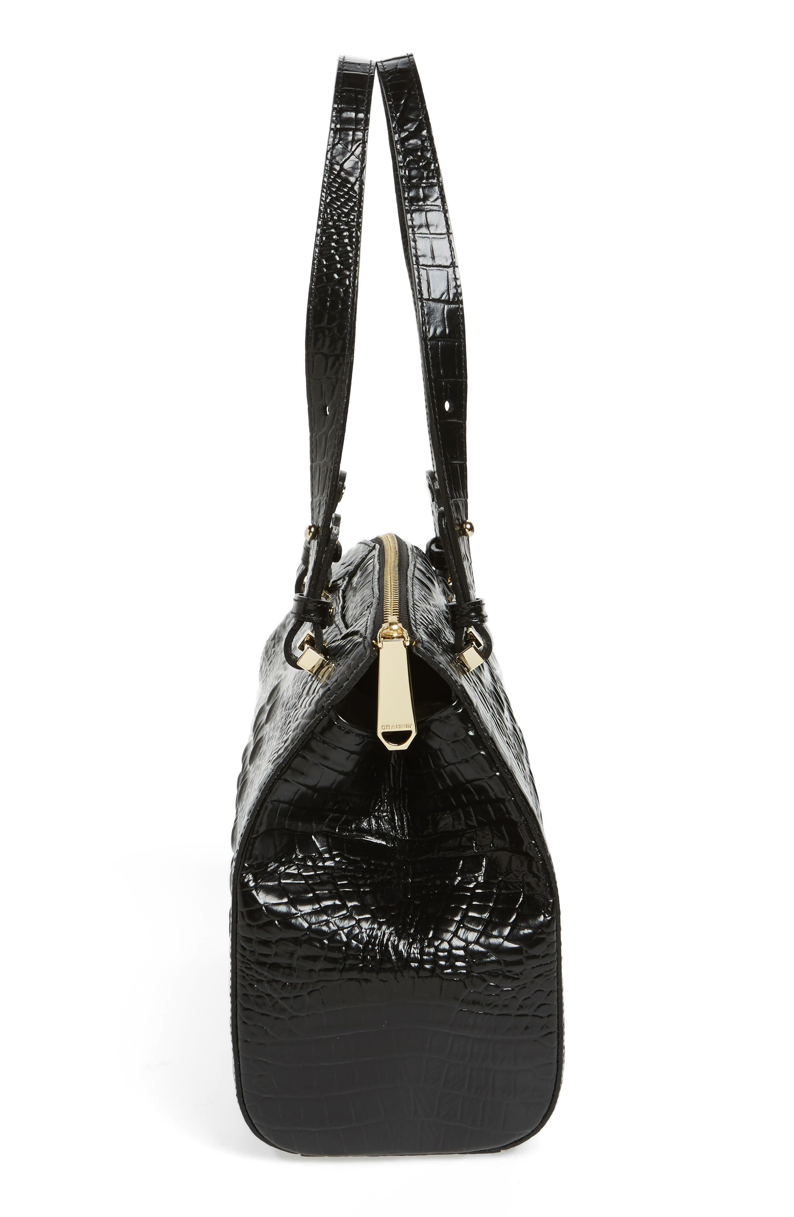 Small Alice Melbourne Leather Satchel,                             Alternate thumbnail 5, color,                             001